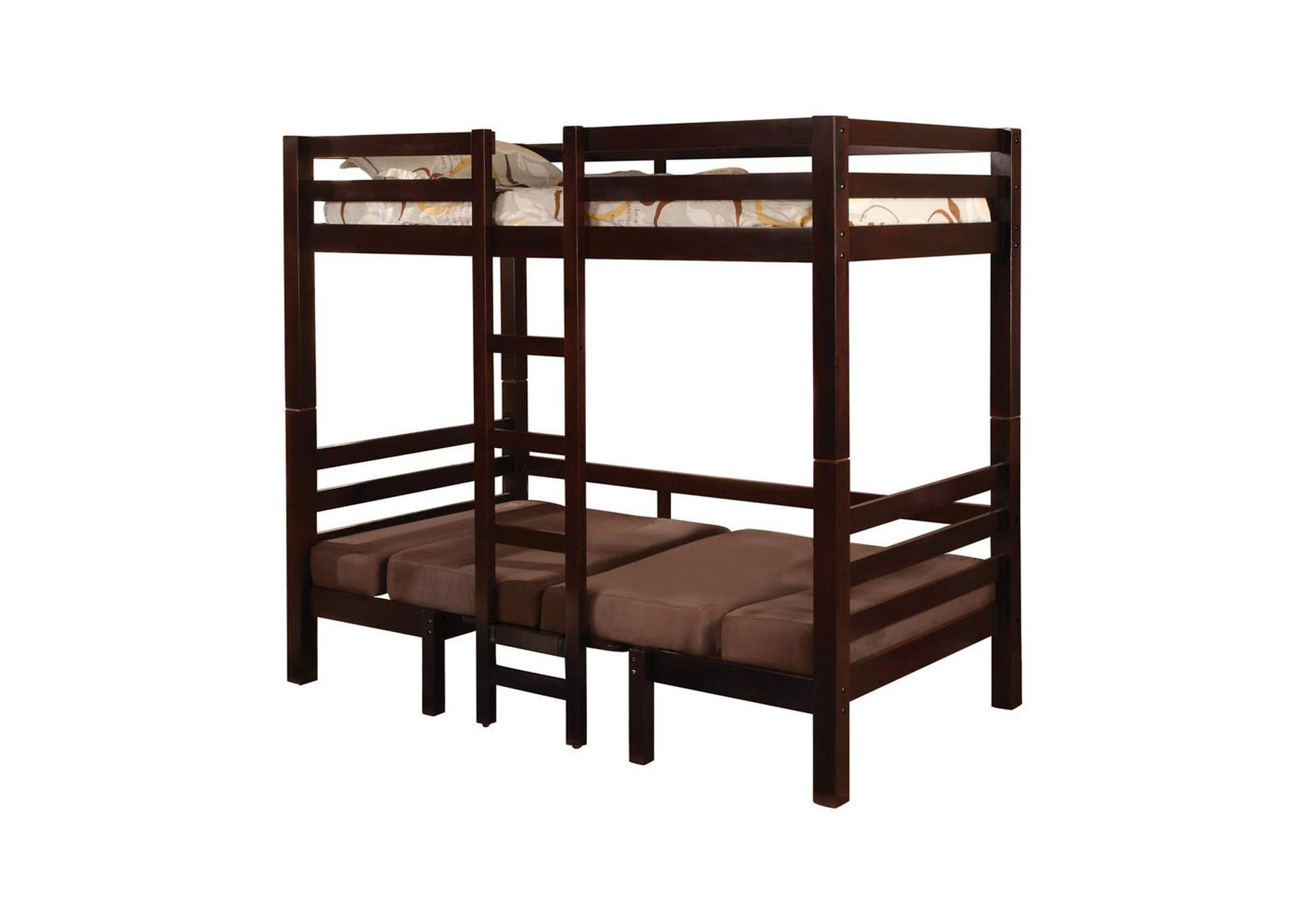 Joaquin Transitional Medium Brown Twin-over-Twin Bunk Bed,Coaster Furniture
