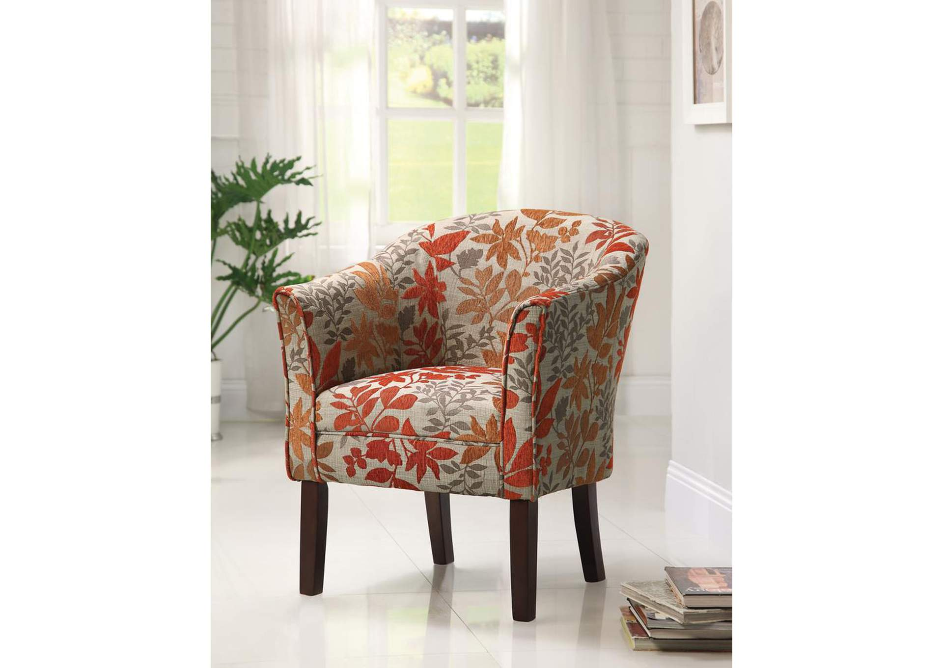 Cappuccino Autumn Accent Chair,Coaster Furniture