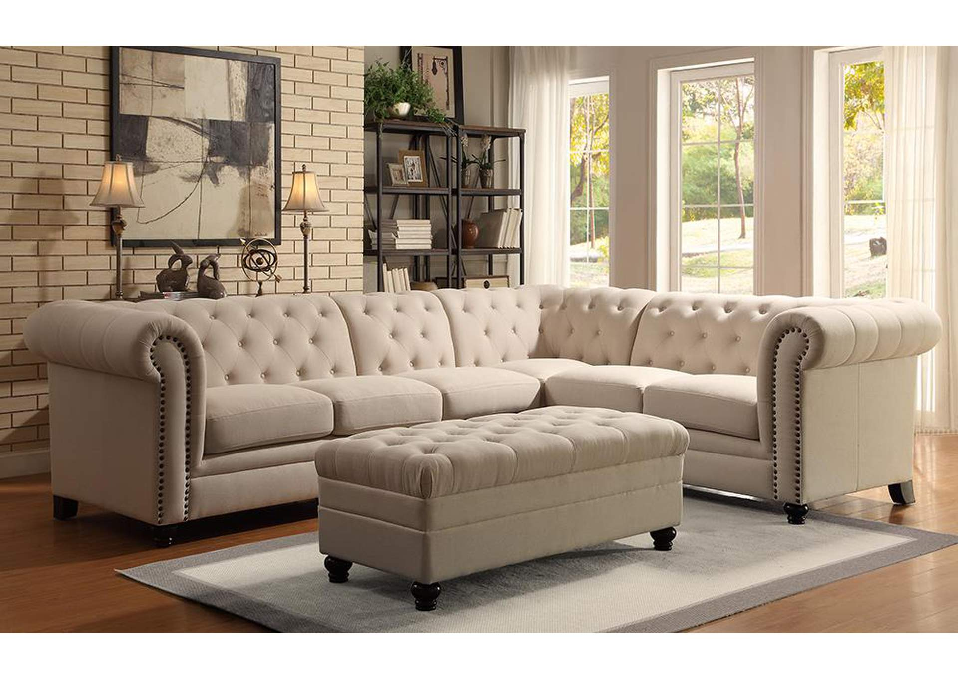 Coral Reef Roy Oatmeal Sectional,Coaster Furniture
