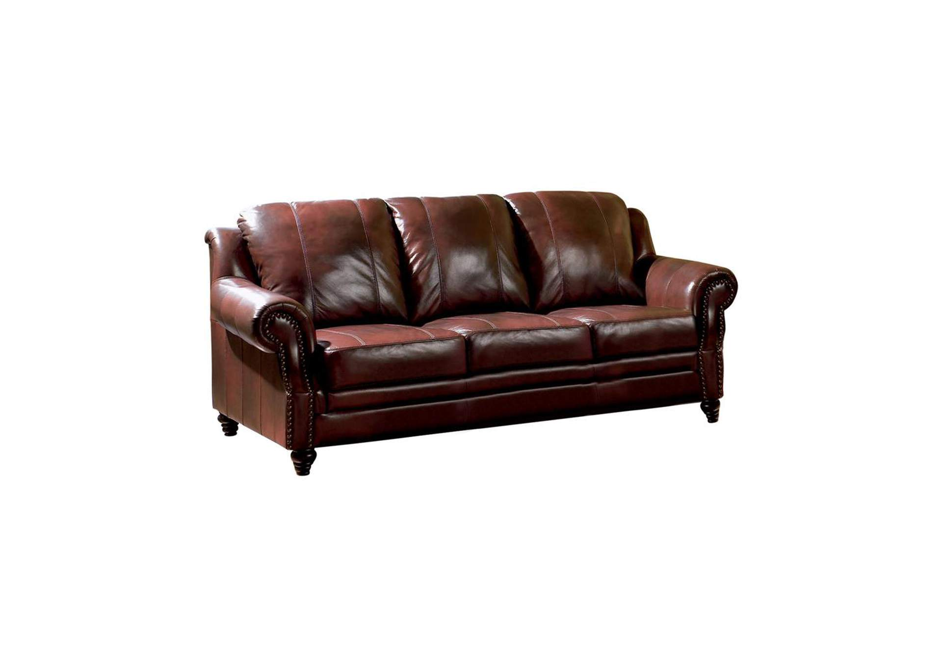 Diesel Princeton Traditional Burgundy Sofa,Coaster Furniture