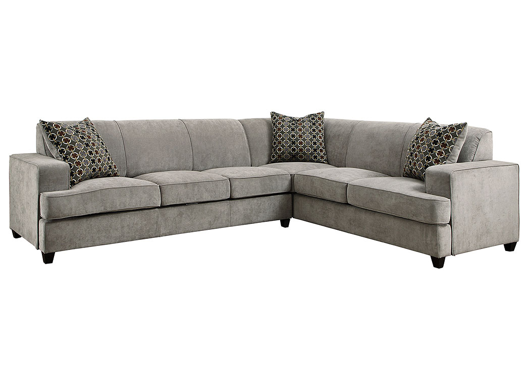 Tess Grey L-Shape Sleeper Sectional,Coaster Furniture