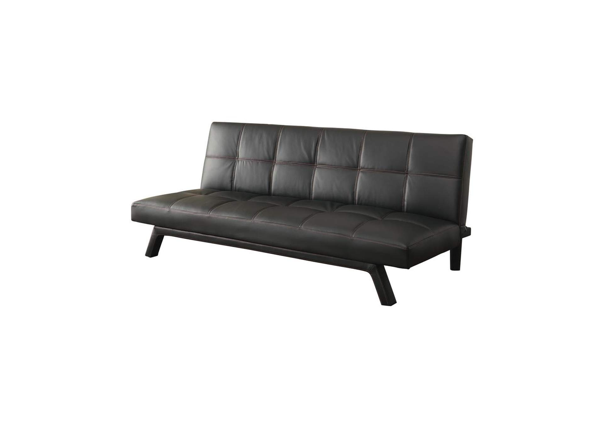 Black Contemporary Black Sofa Bed,Coaster Furniture
