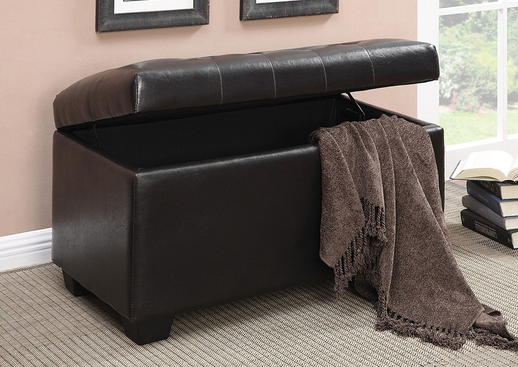 Black Casual Dark Brown Ottoman,Coaster Furniture