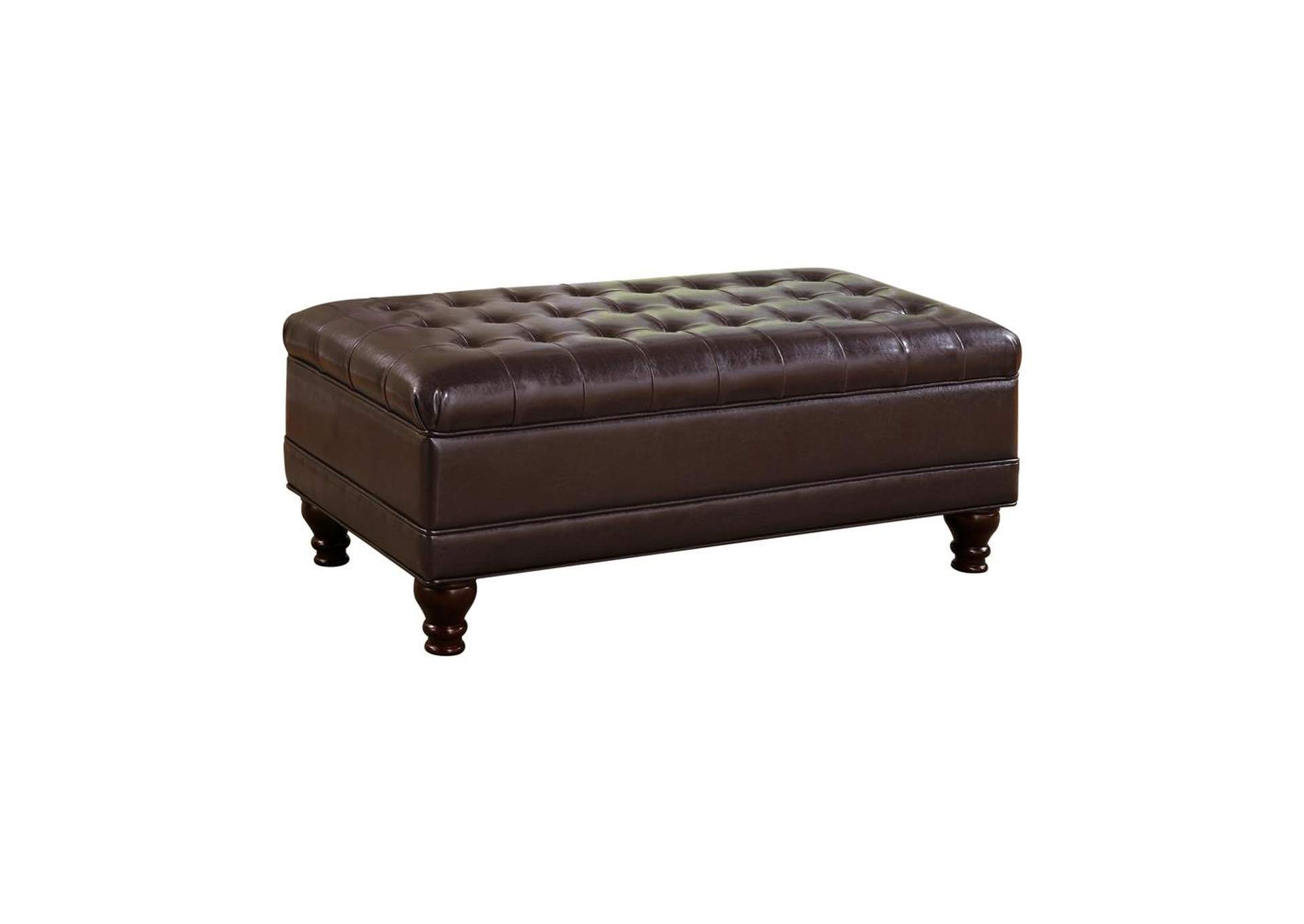 English Walnut Casual Dark Brown Ottoman,Coaster Furniture