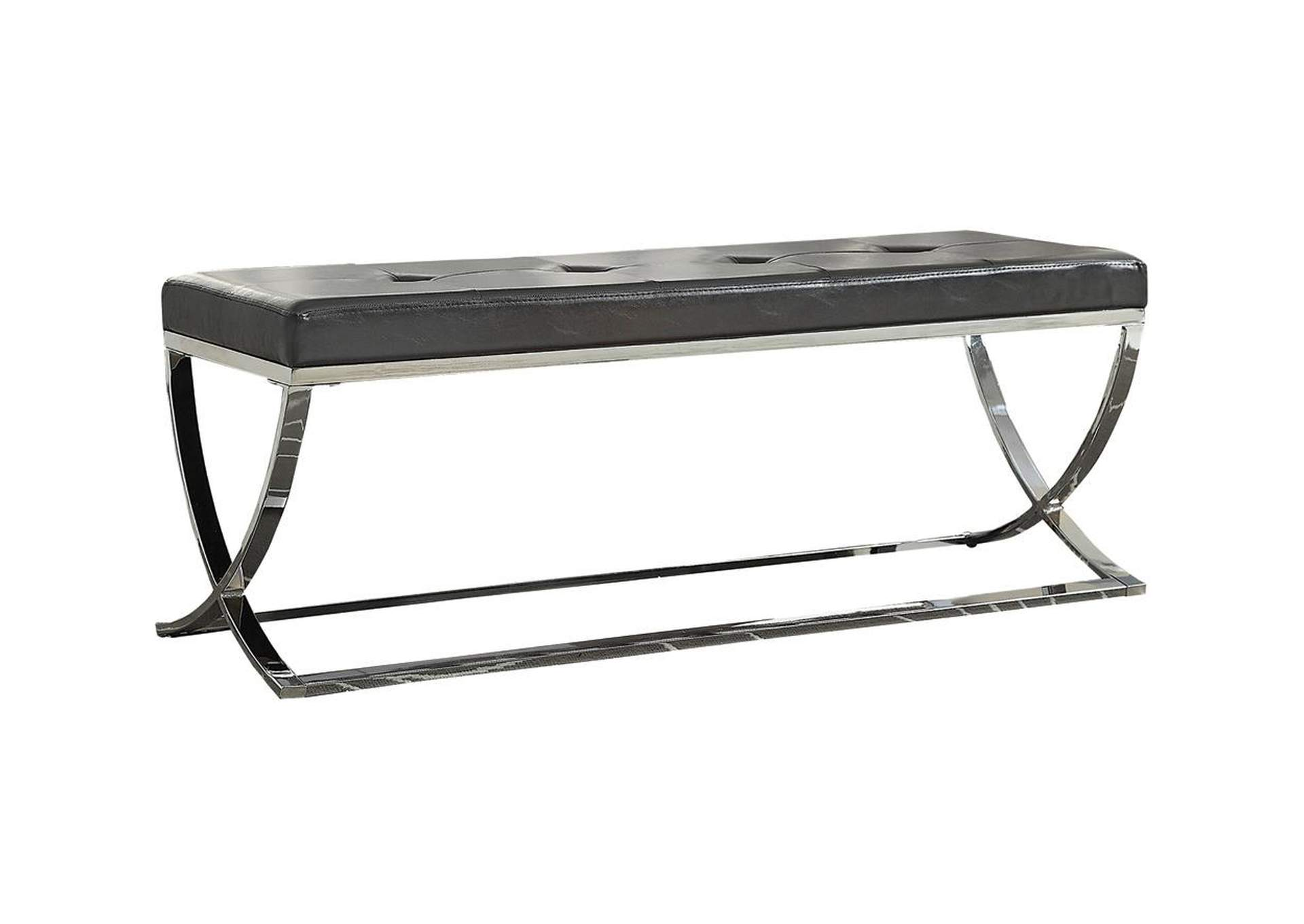 Chrome Contemporary Chrome Dining Bench,Coaster Furniture