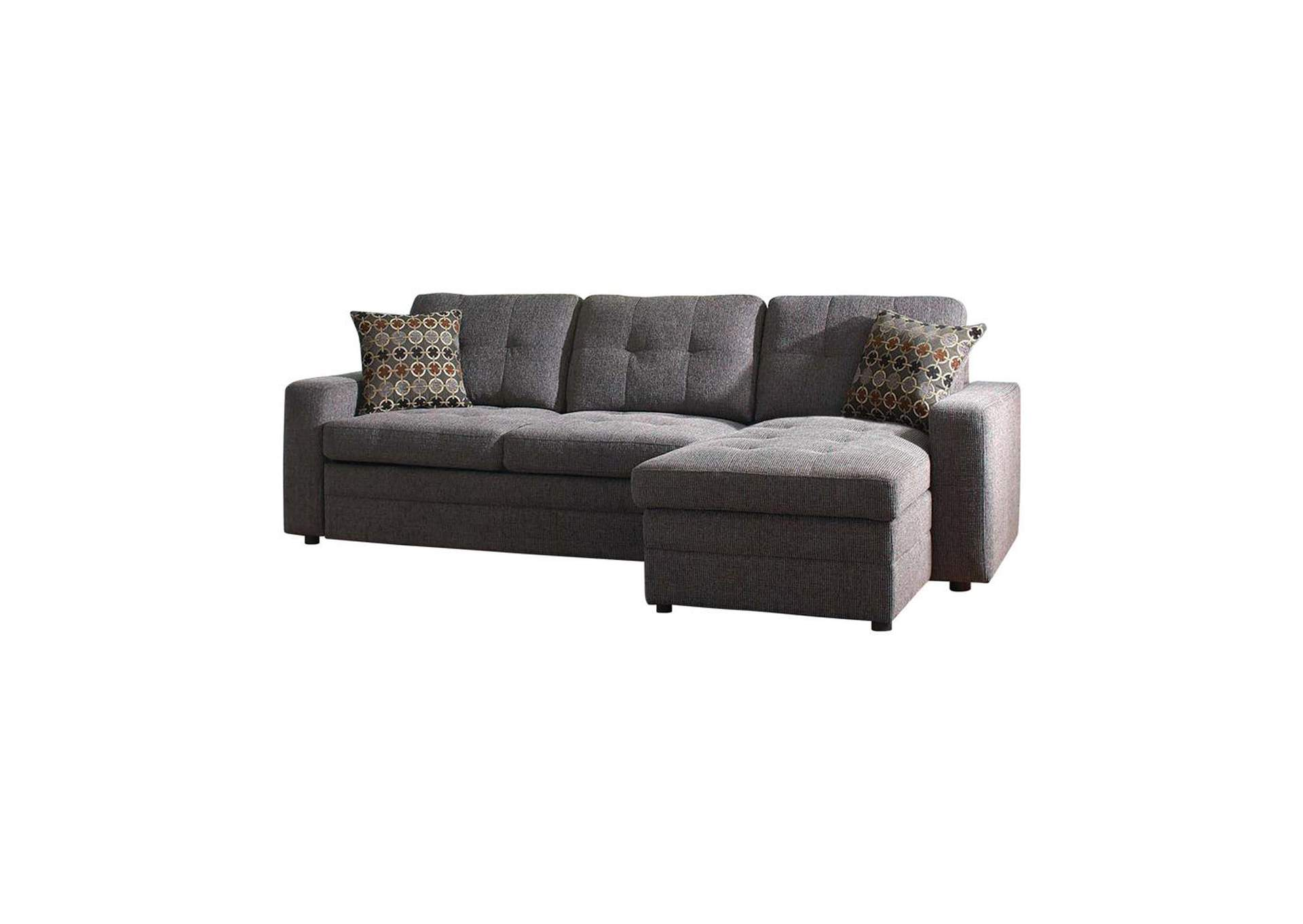 Mine Shaft Gus Casual Charcoal Sectional,Coaster Furniture