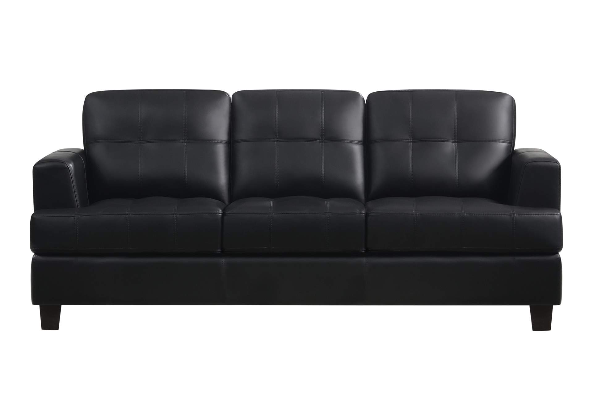 Cappuccino Samuel Transitional Black Sofa,Coaster Furniture
