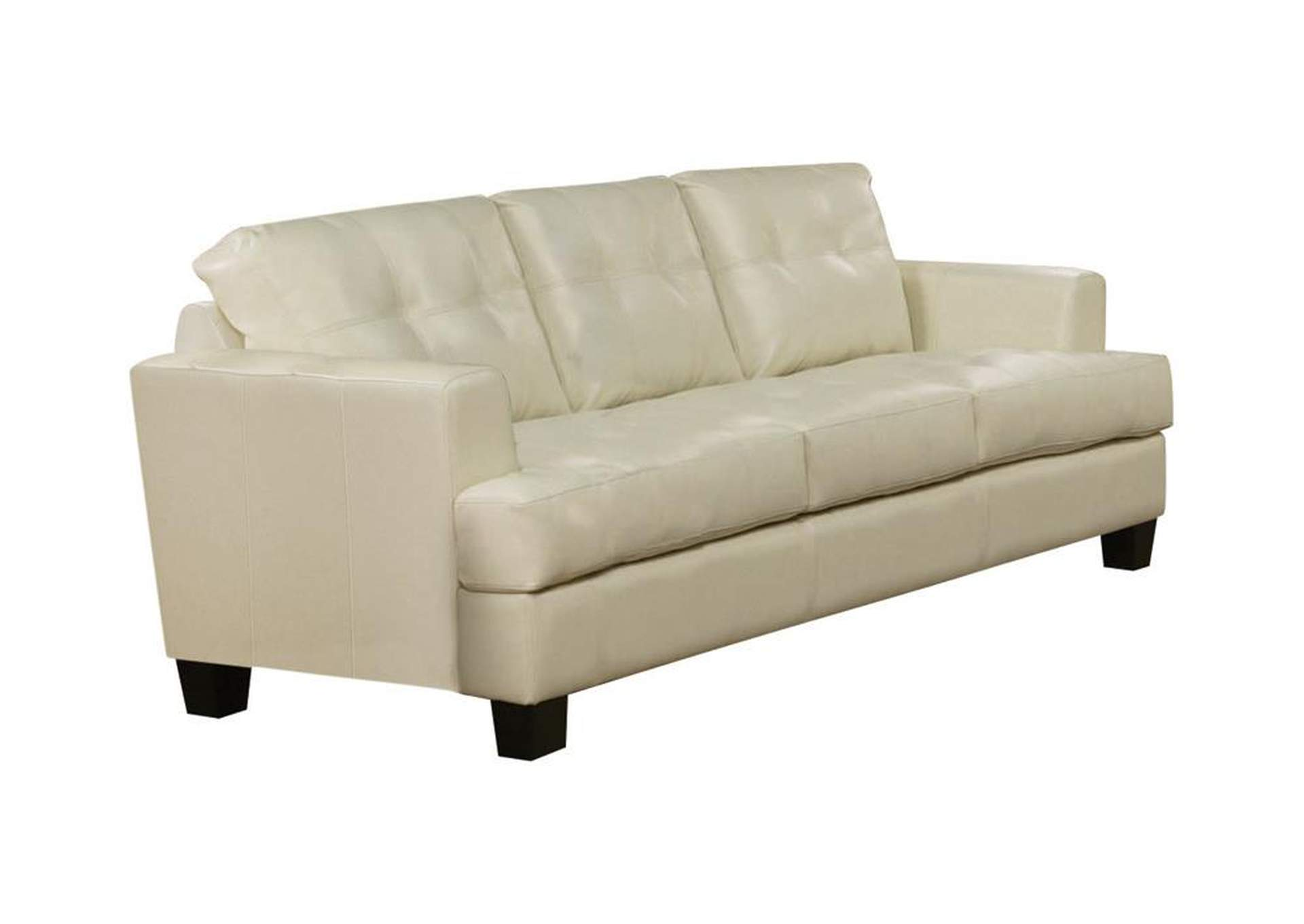 Cappuccino Samuel Cream Sofa,Coaster Furniture