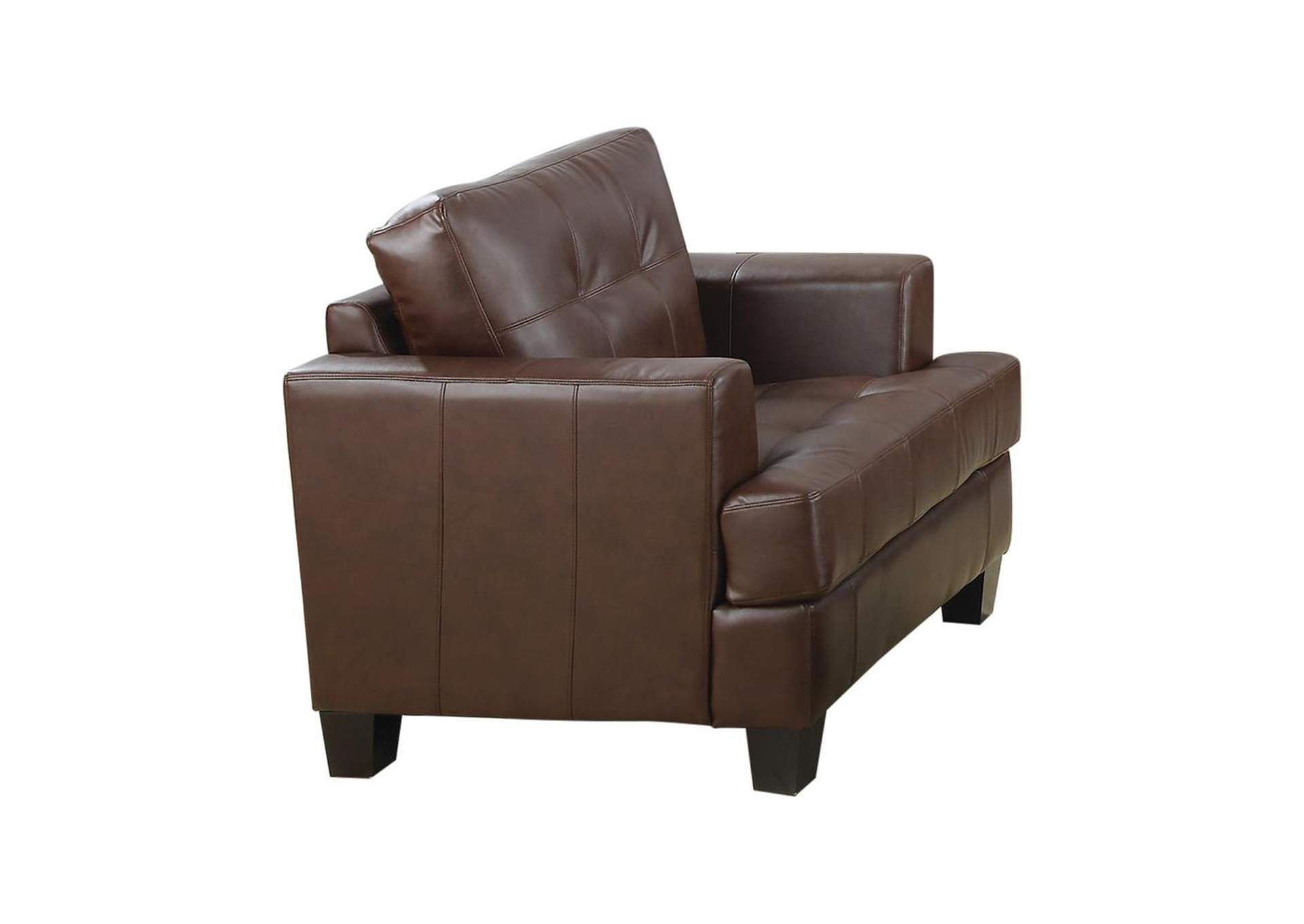 Samuel Upholstered Chair Dark Brown,Coaster Furniture