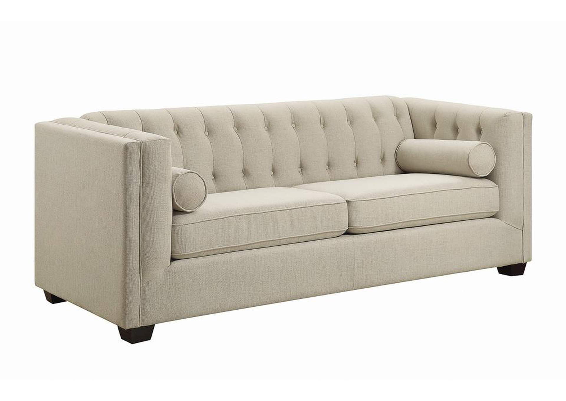 Brown Cairns Transitional Oatmeal Sofa,Coaster Furniture