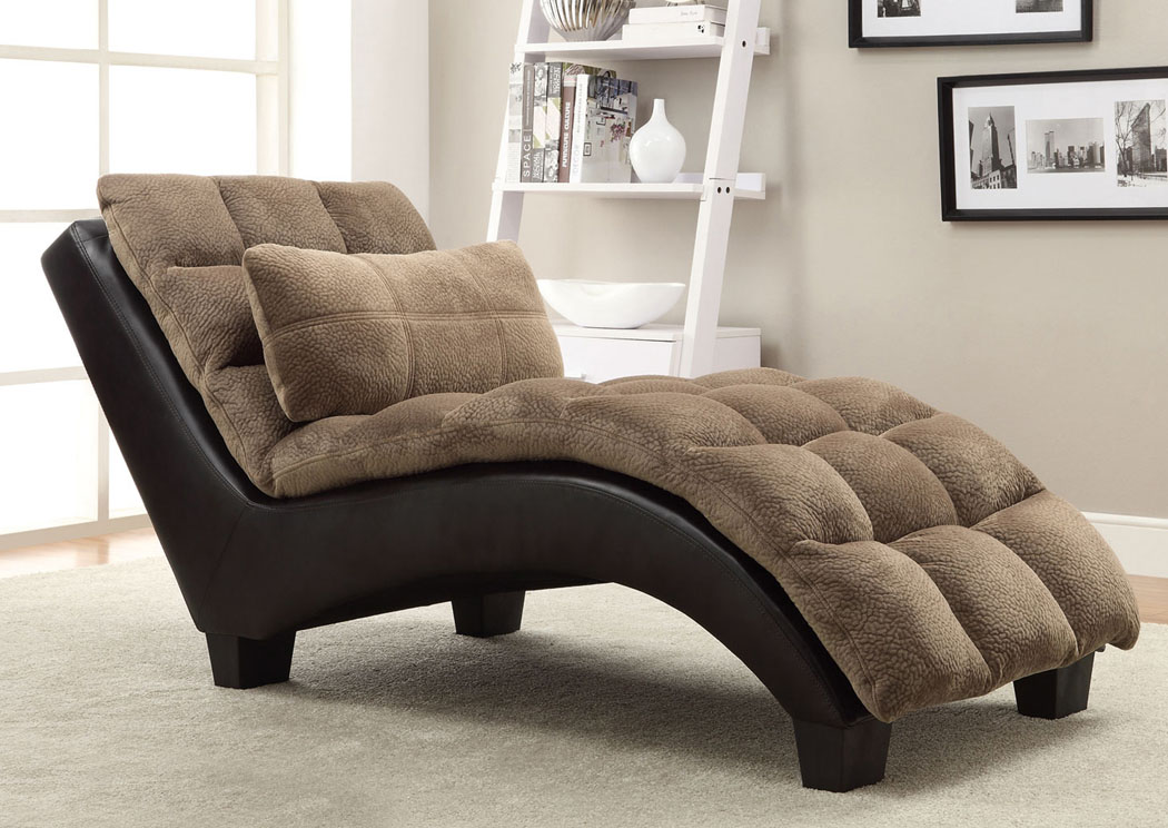 Dark Brown Chaise,Coaster Furniture