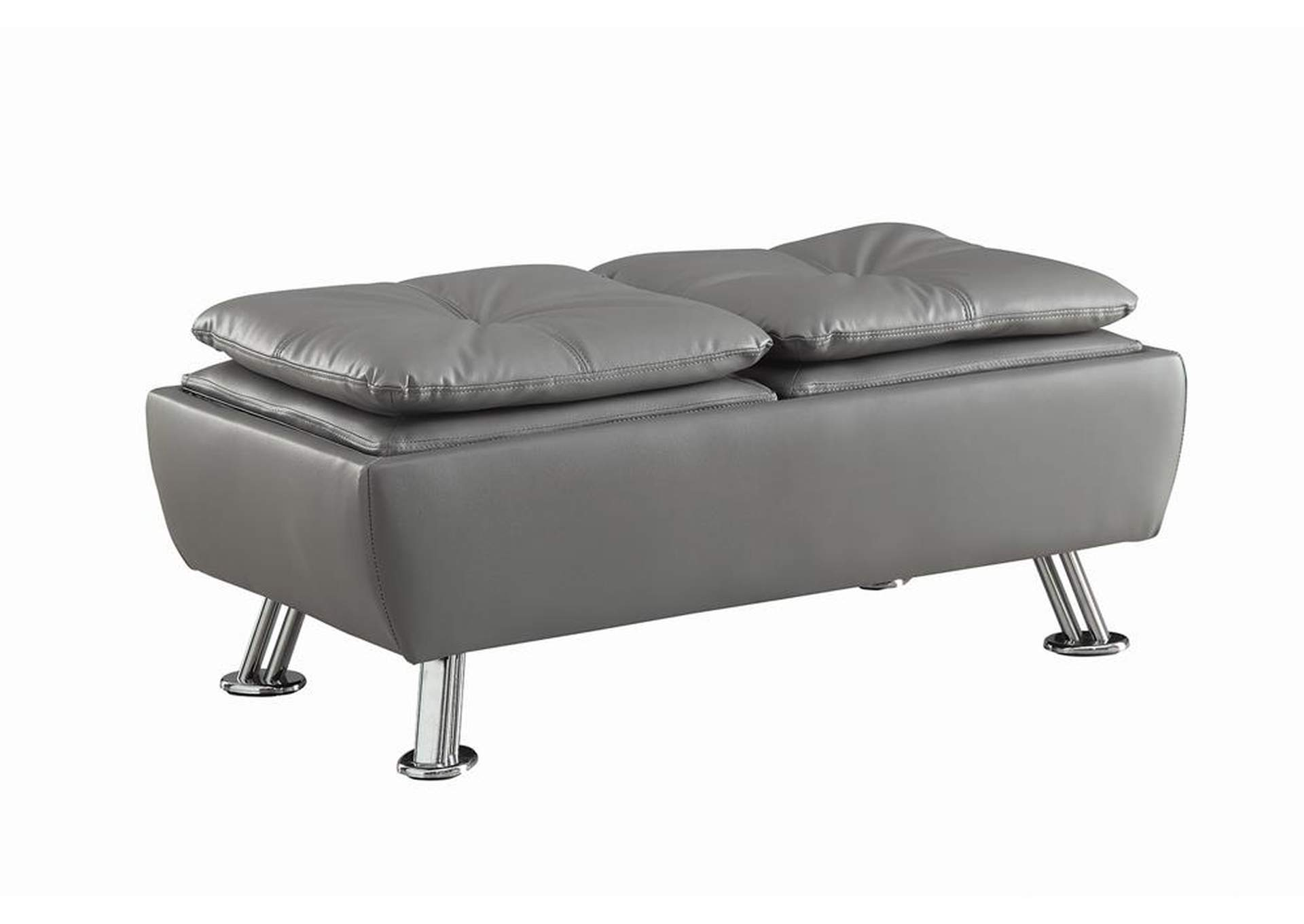 Gray Dilleston Contemporary Grey Storage Ottoman,Coaster Furniture