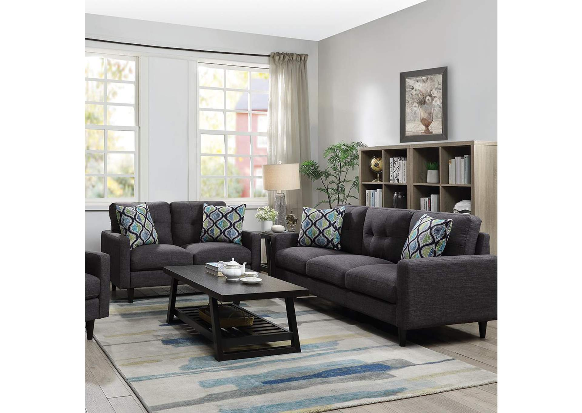 Thunder Watsonville Retro Grey Sofa,Coaster Furniture