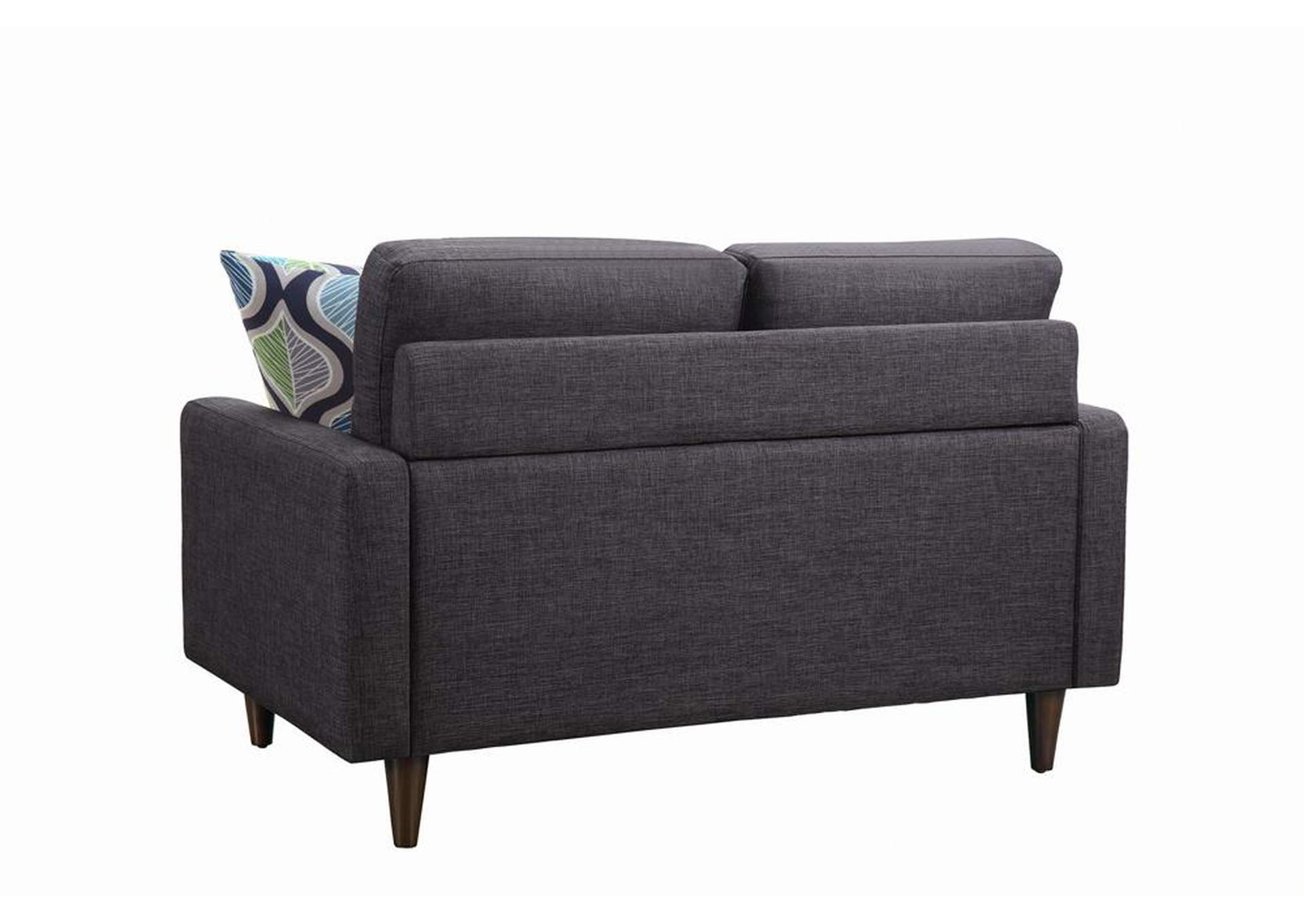 Thunder Watsonville Retro Grey Loveseat,Coaster Furniture