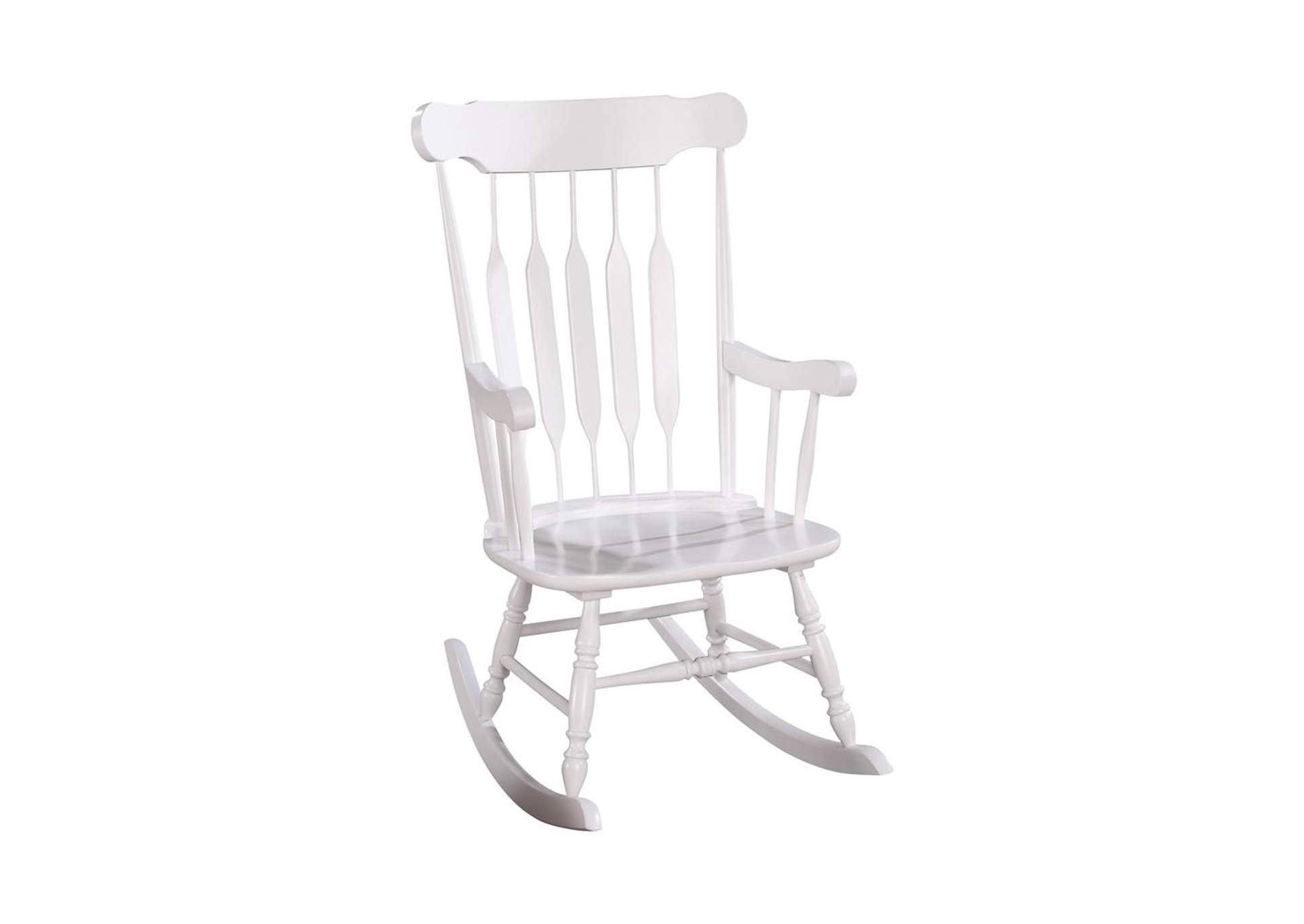 White Traditional White Rocking Chair,Coaster Furniture