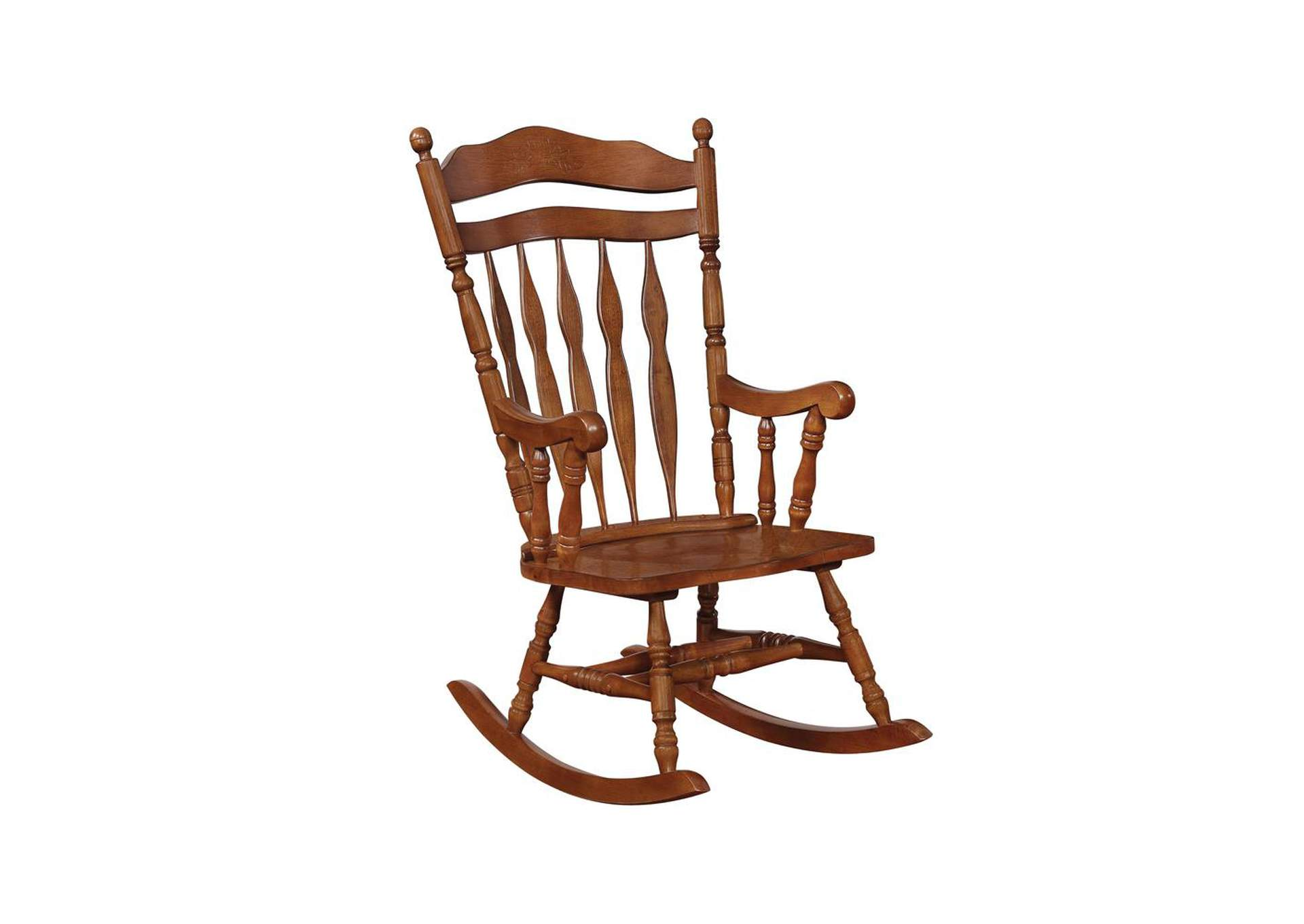 Nutmeg Traditional Medium Brown Rocking Chair,Coaster Furniture
