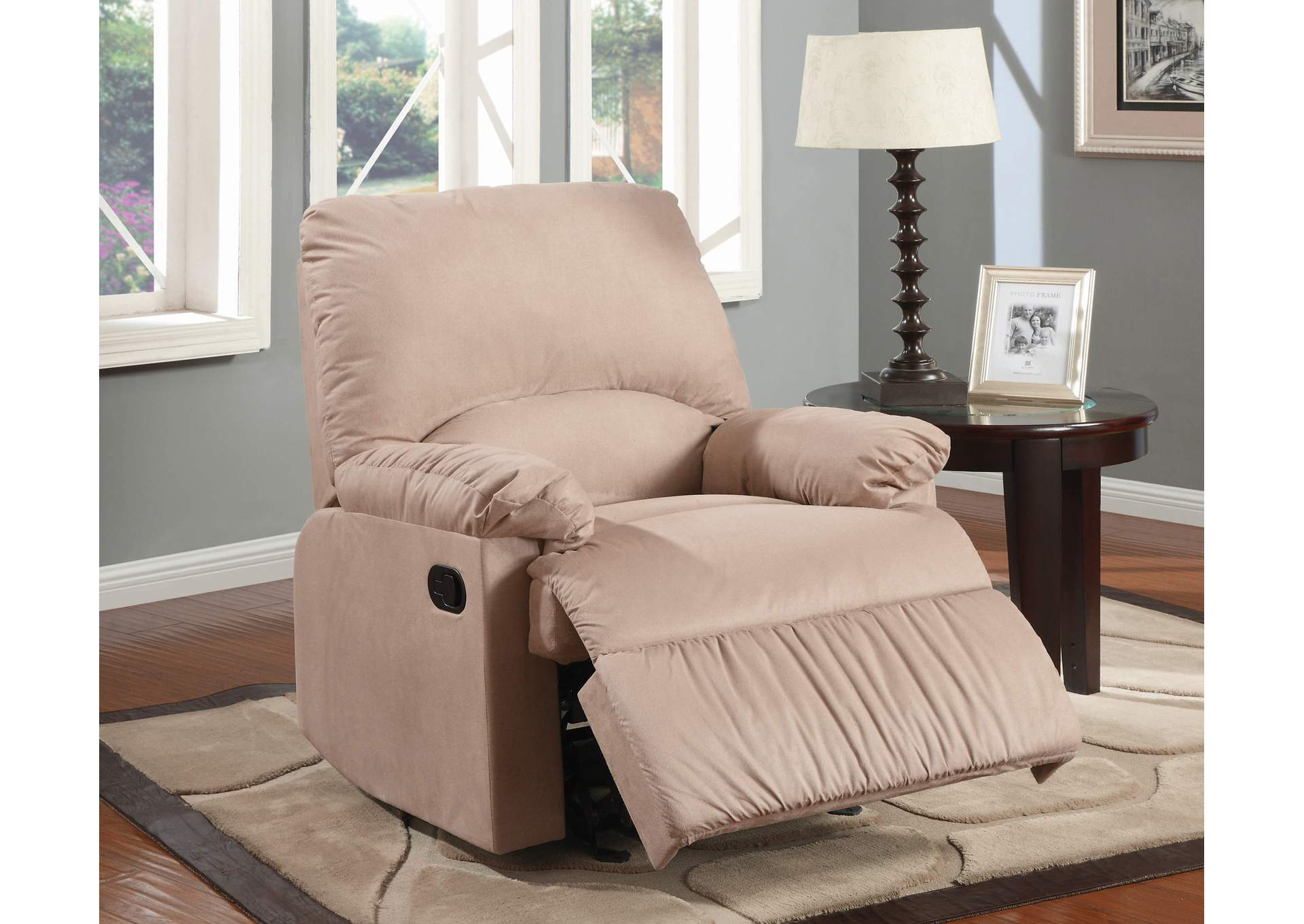Vanilla Casual Brown Glider Recliner,Coaster Furniture