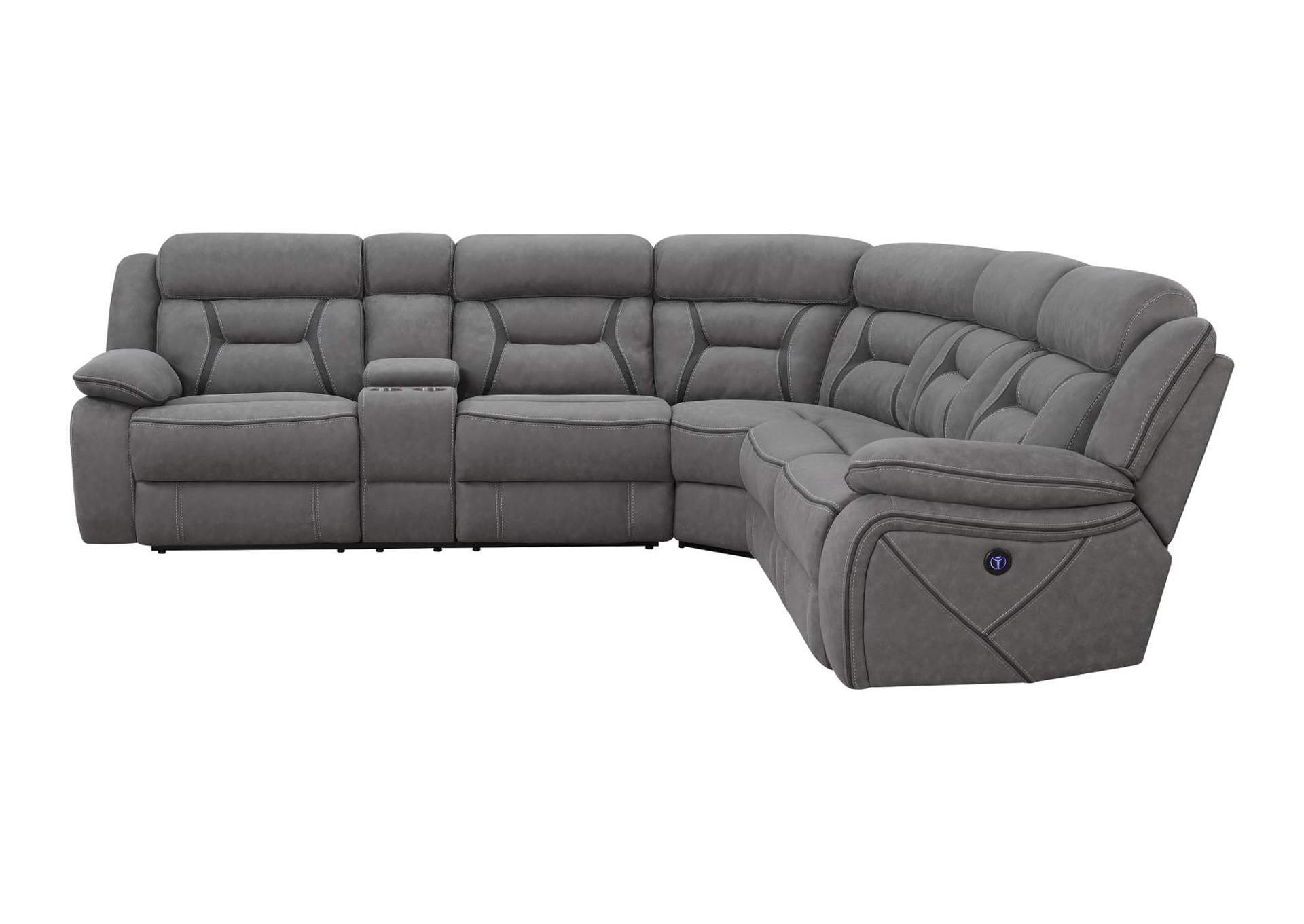 Dove Gray Camargue Casual Grey Motion Sectional,Coaster Furniture