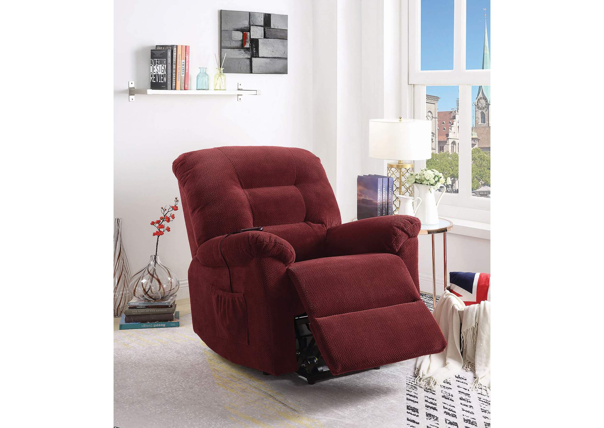 Cedar Brick Red Power Lift Recliner,Coaster Furniture