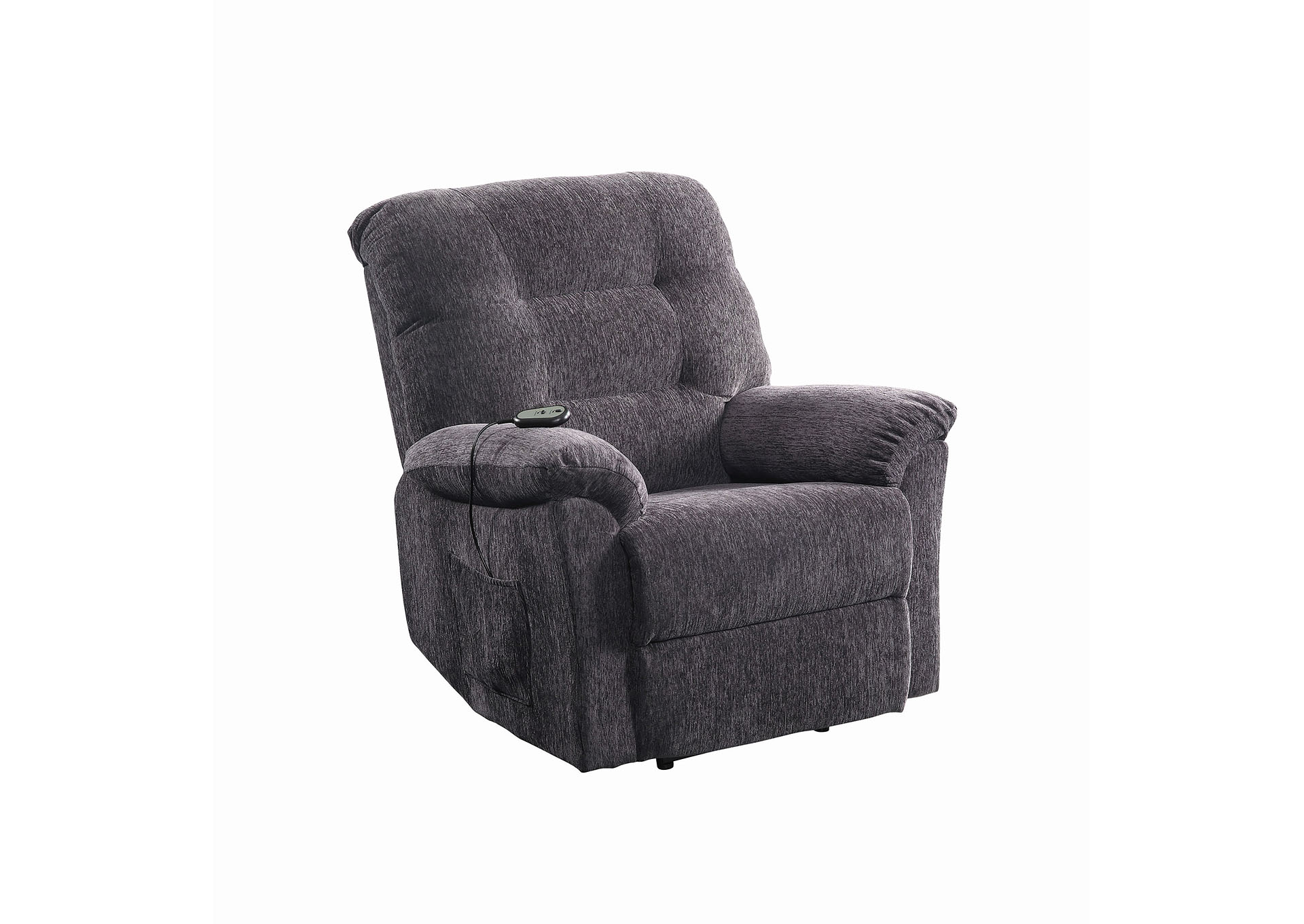 Emperor Casual Dark Grey Power Lift Recliner,Coaster Furniture
