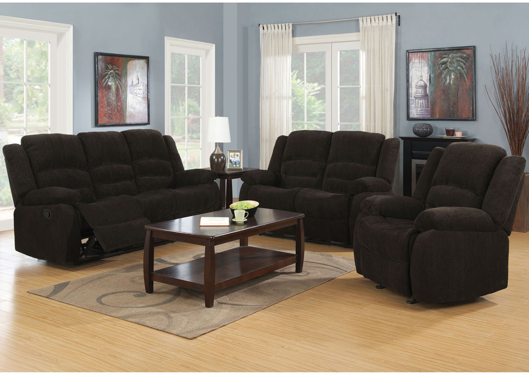 Gordon Dark Brown Motion Sofa & Loveseat,Coaster Furniture