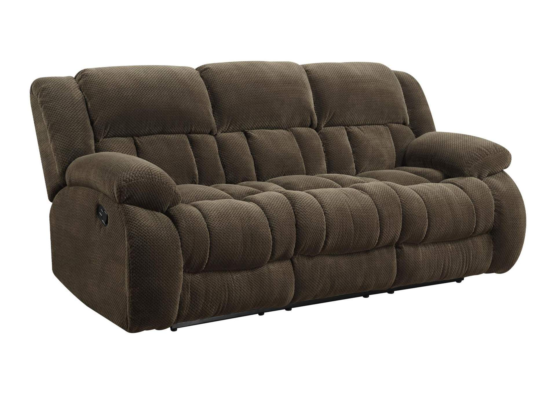 Birch Weissman Brown Reclining Sofa,Coaster Furniture
