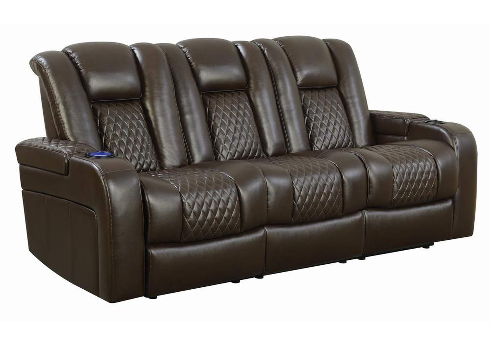 Birch Delangelo Brown Power Motion Reclining Sofa,Coaster Furniture