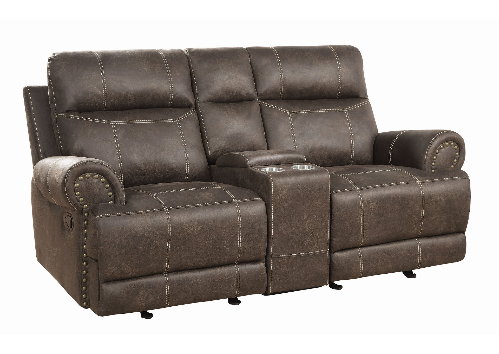 Taupe Glider Loveseat,Coaster Furniture