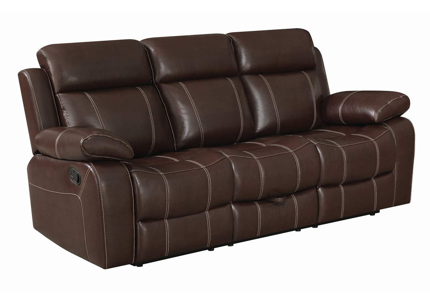 Mondo Myleene Leather Reclining Sofa,Coaster Furniture