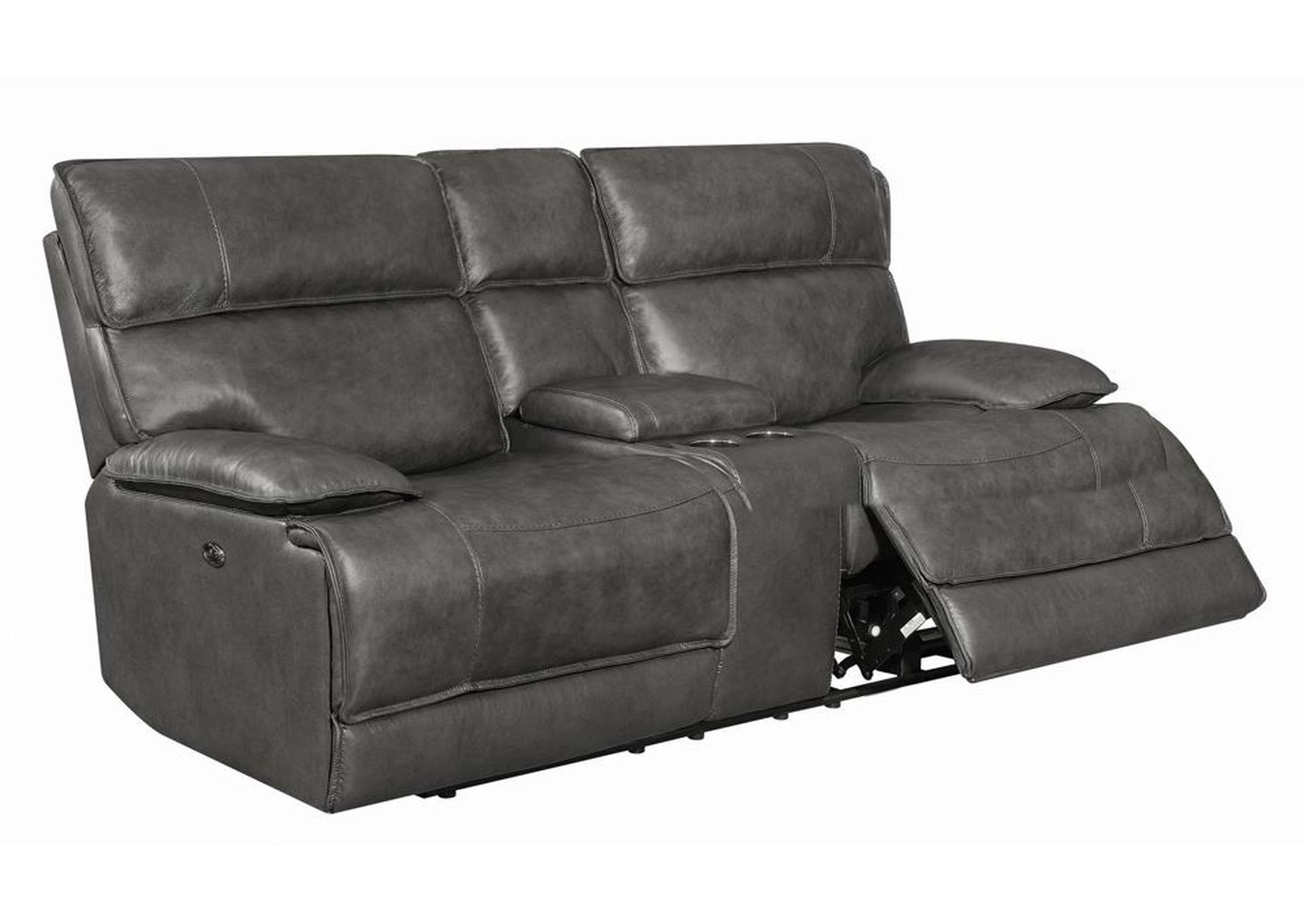 Fuscous Gray Standford Casual Charcoal Power Loveseat,Coaster Furniture