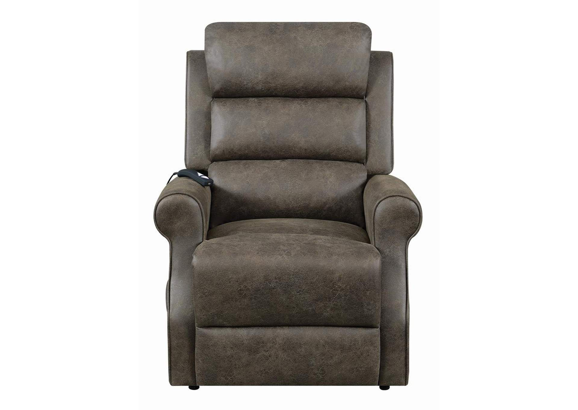 Taupe Casual Brown Power Lift Recliner,Coaster Furniture