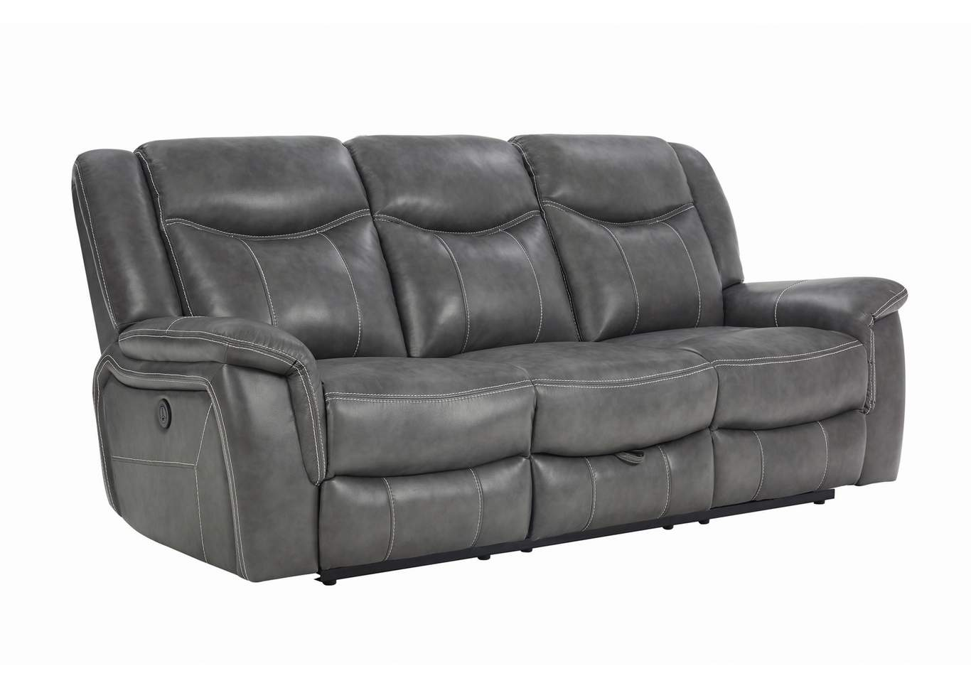 Granite Gray Conrad Transitional Grey Power Sofa,Coaster Furniture