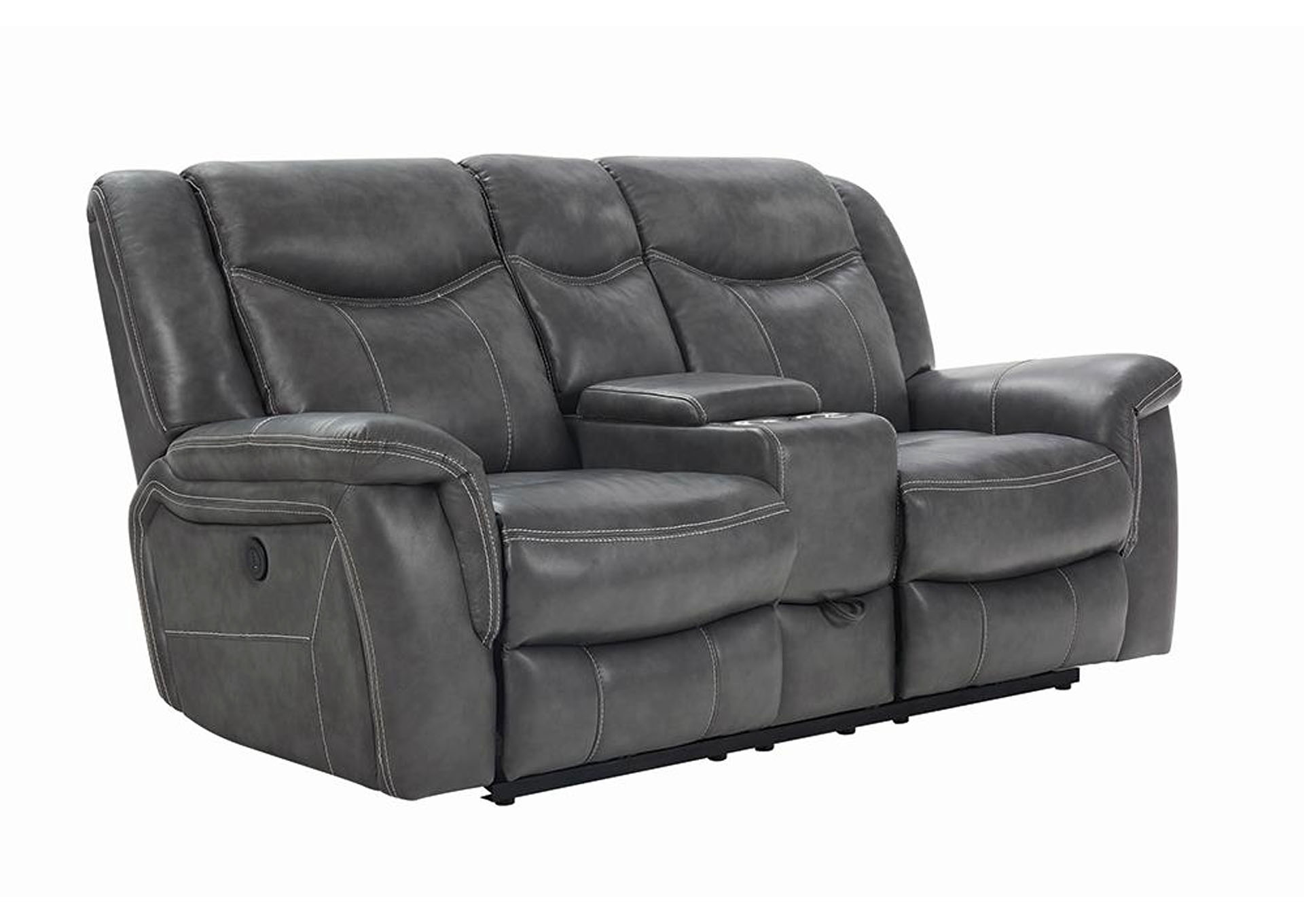 Tundora Conrad Transitional Grey Motion Loveseat,Coaster Furniture