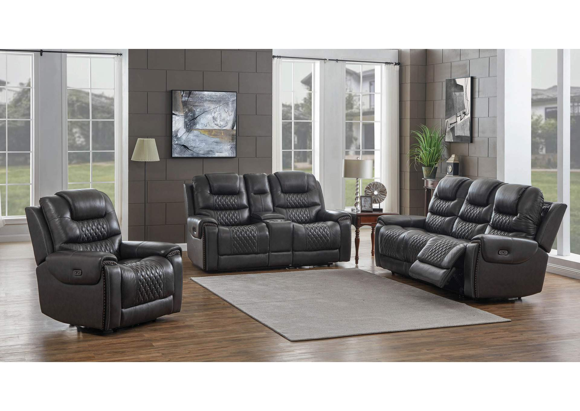 North Mine Shaft 3 Piece Power Reclining Living Room Set Big Box Furniture Discount Furniture Stores In Miami Florida