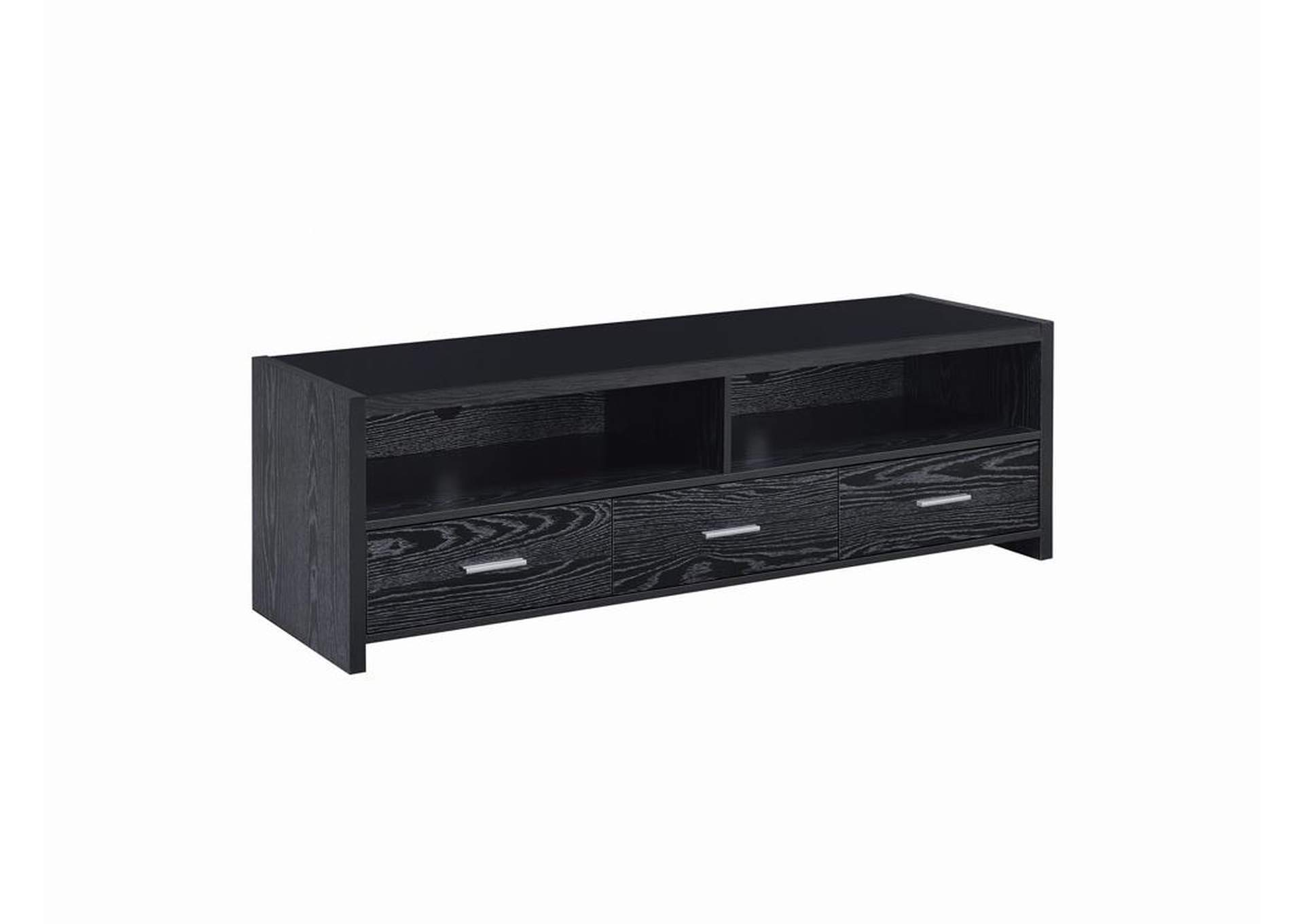 Black Oak Contemporary Black Oak TV Console,Coaster Furniture