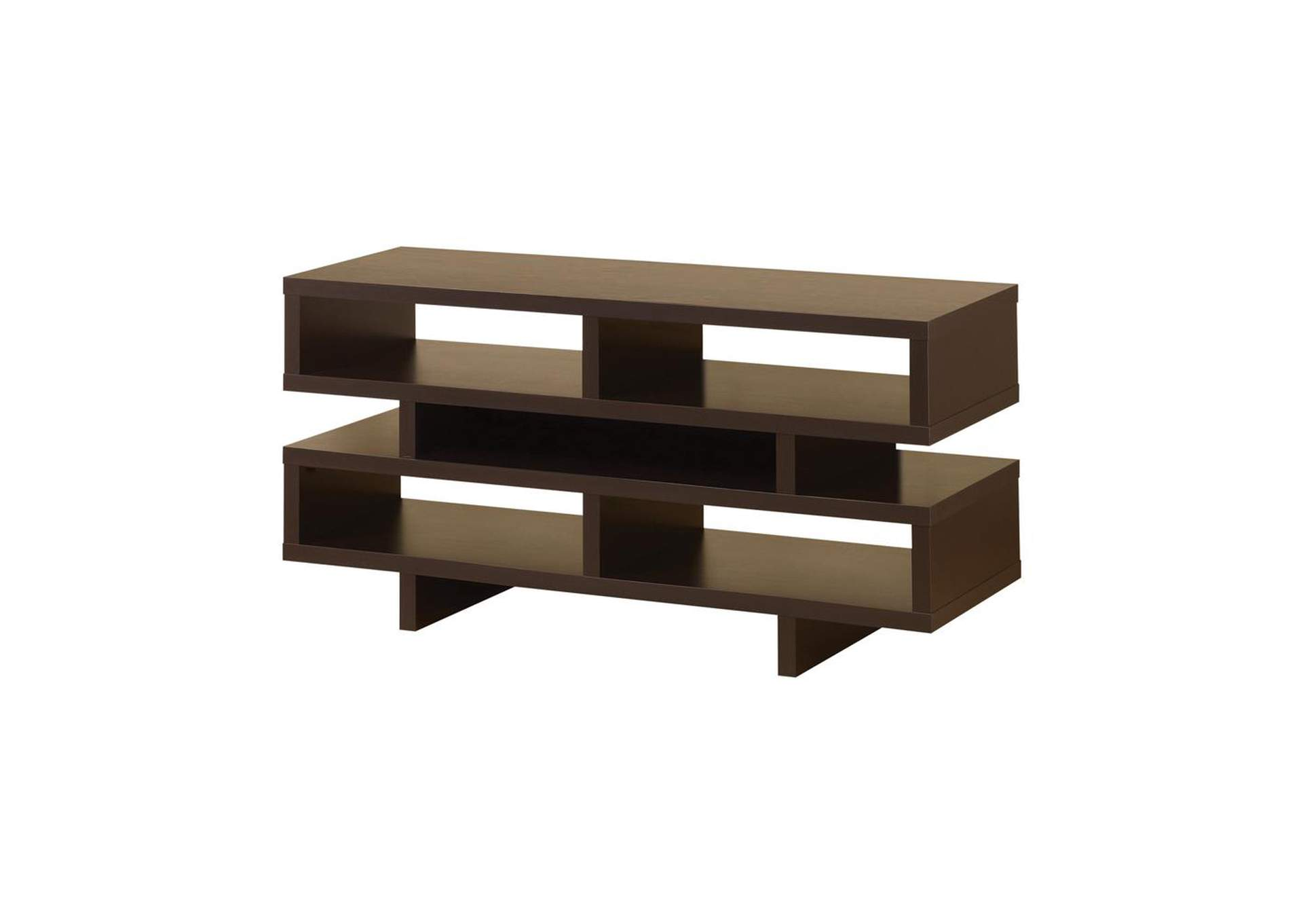 Cappuccino Contemporary Cappuccino Open Storage TV Console,Coaster Furniture