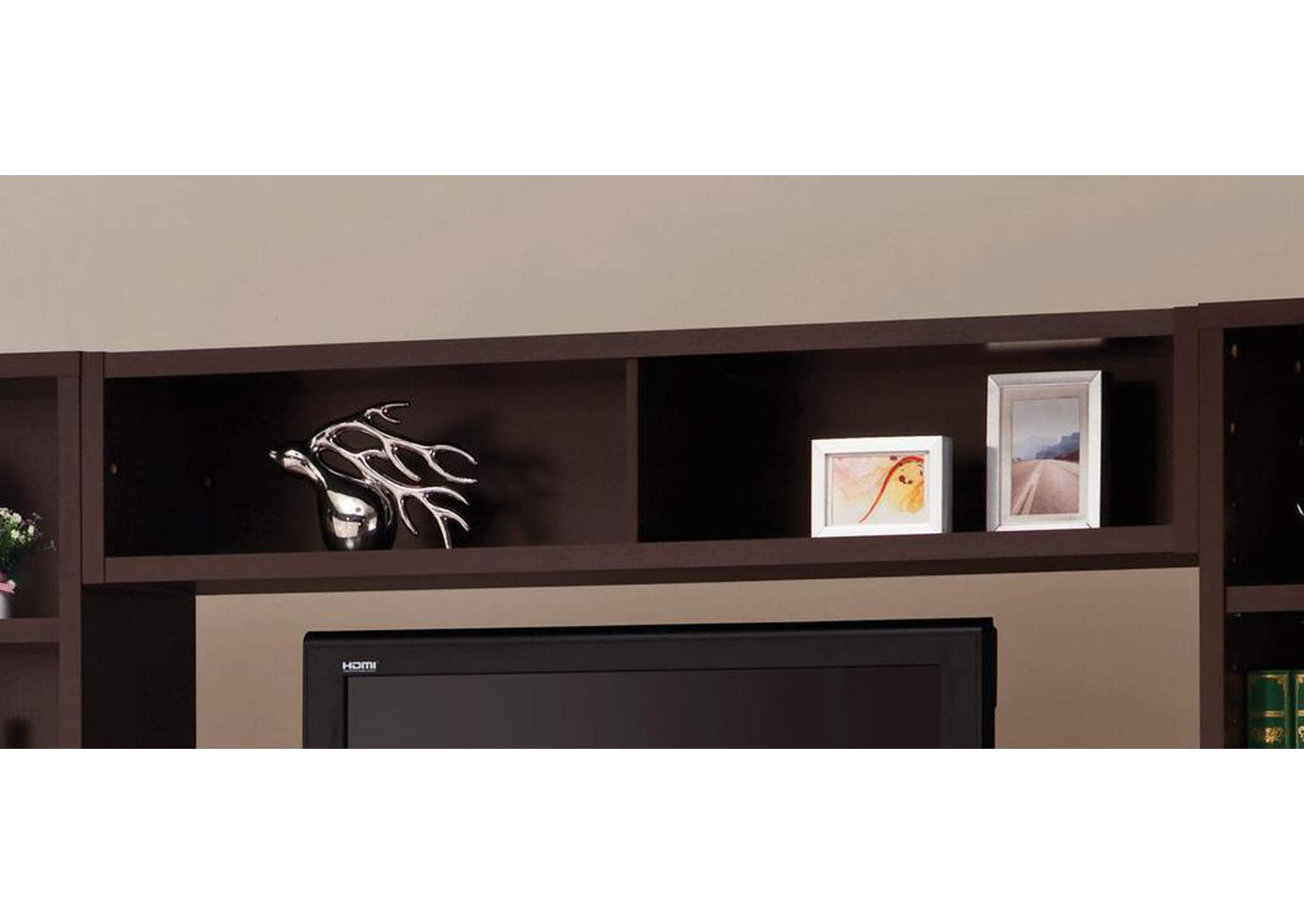 Cappuccino Entertainment Unit Bridge,Coaster Furniture