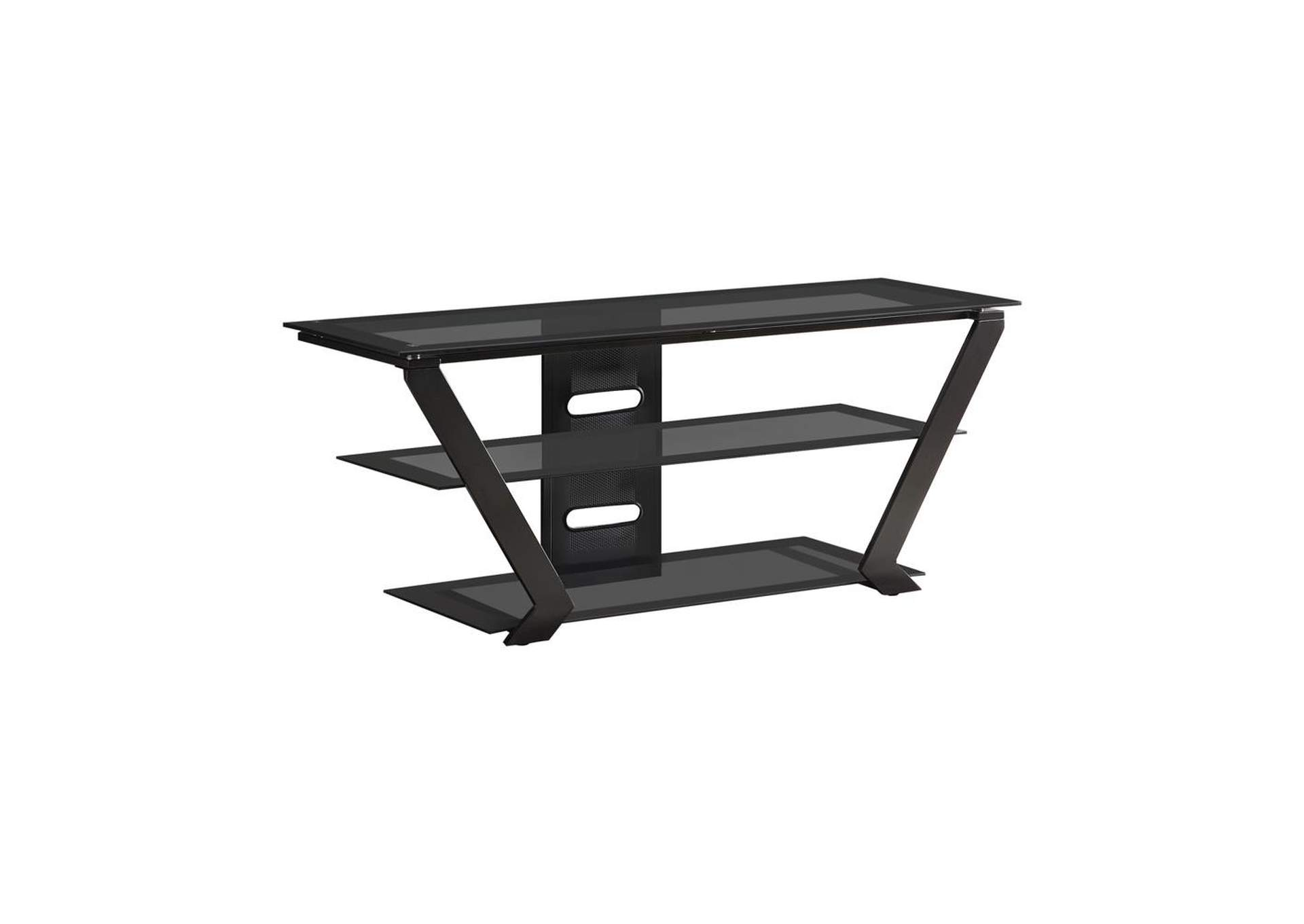 Mine Shaft Contemporary Black TV Console,Coaster Furniture