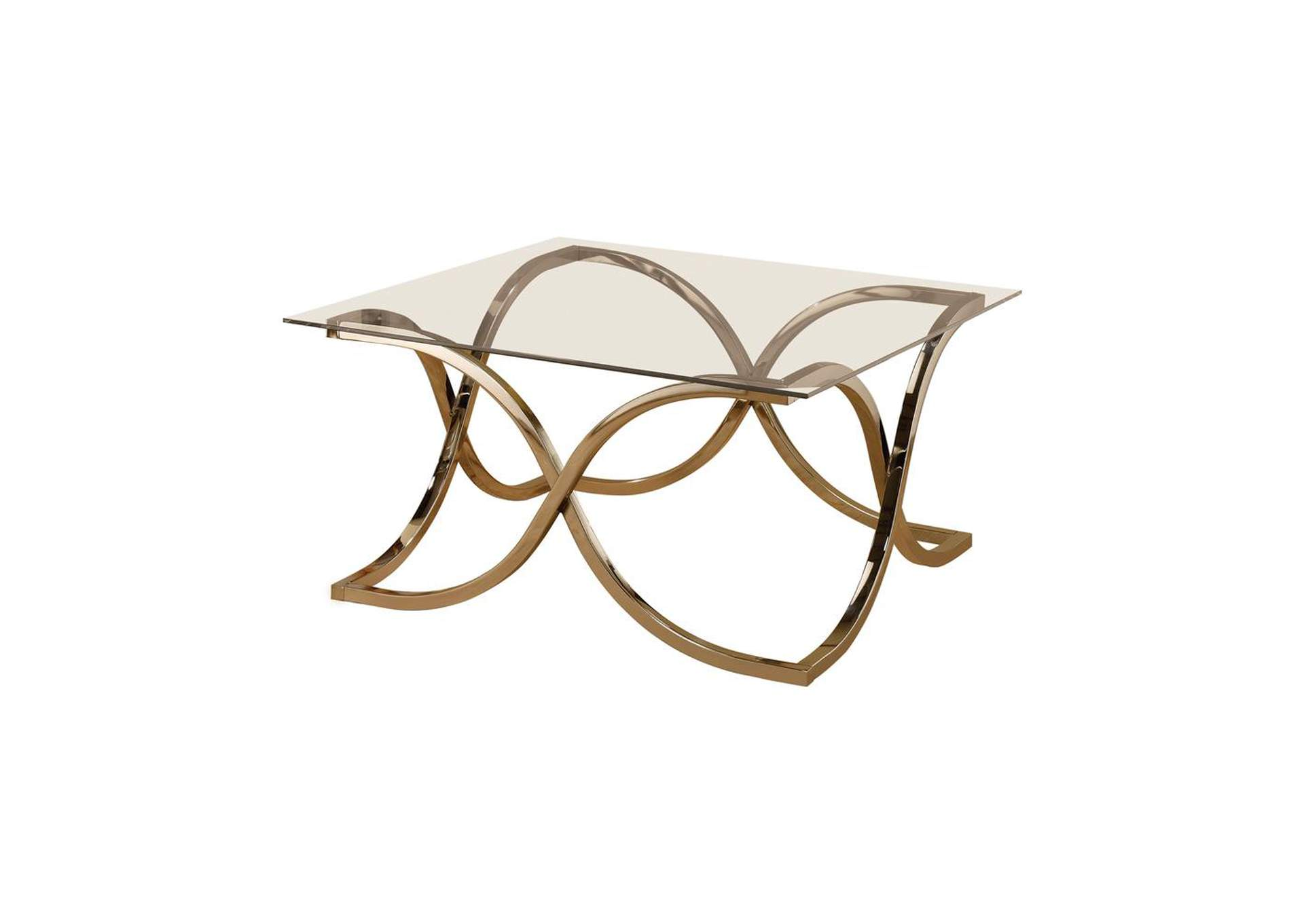Pearl Bush Contemporary Nickel Coffee Table,Coaster Furniture