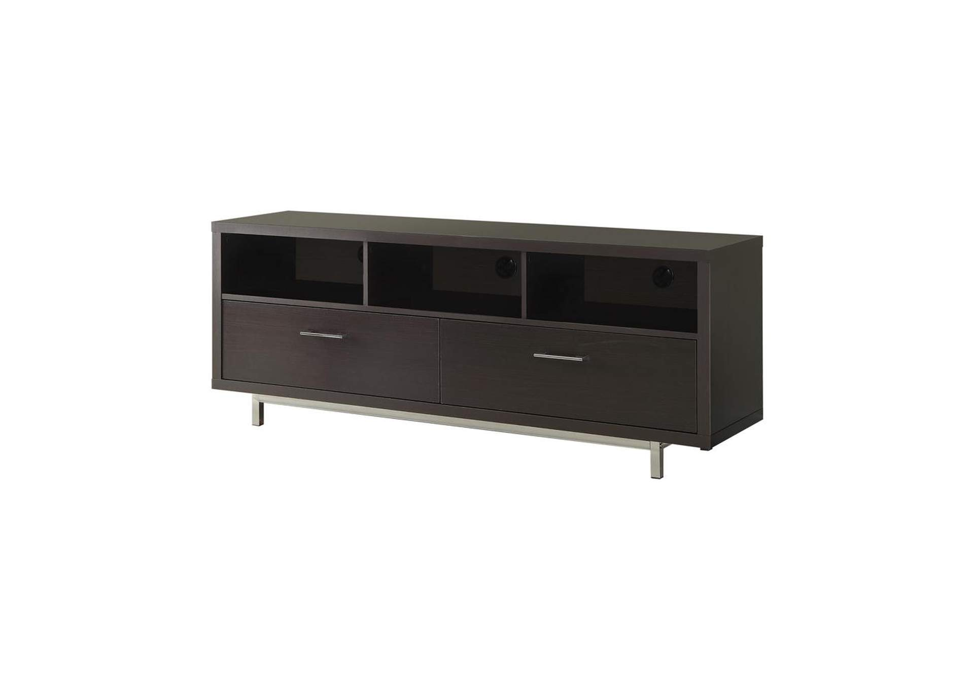 Cappuccino Transitional Cappuccino TV Console,Coaster Furniture