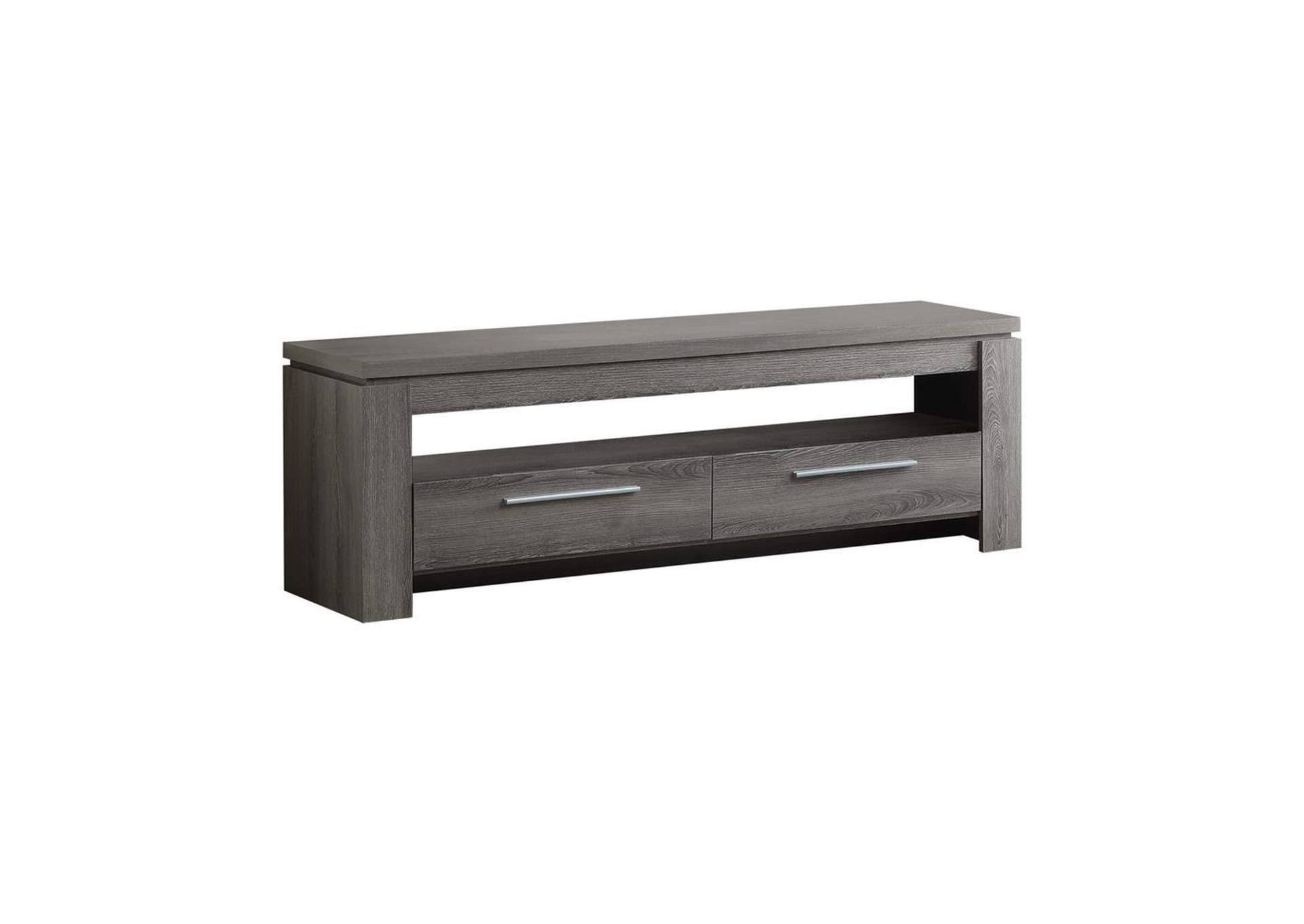 Weathered Grey Transitional Weathered Grey TV Console,Coaster Furniture