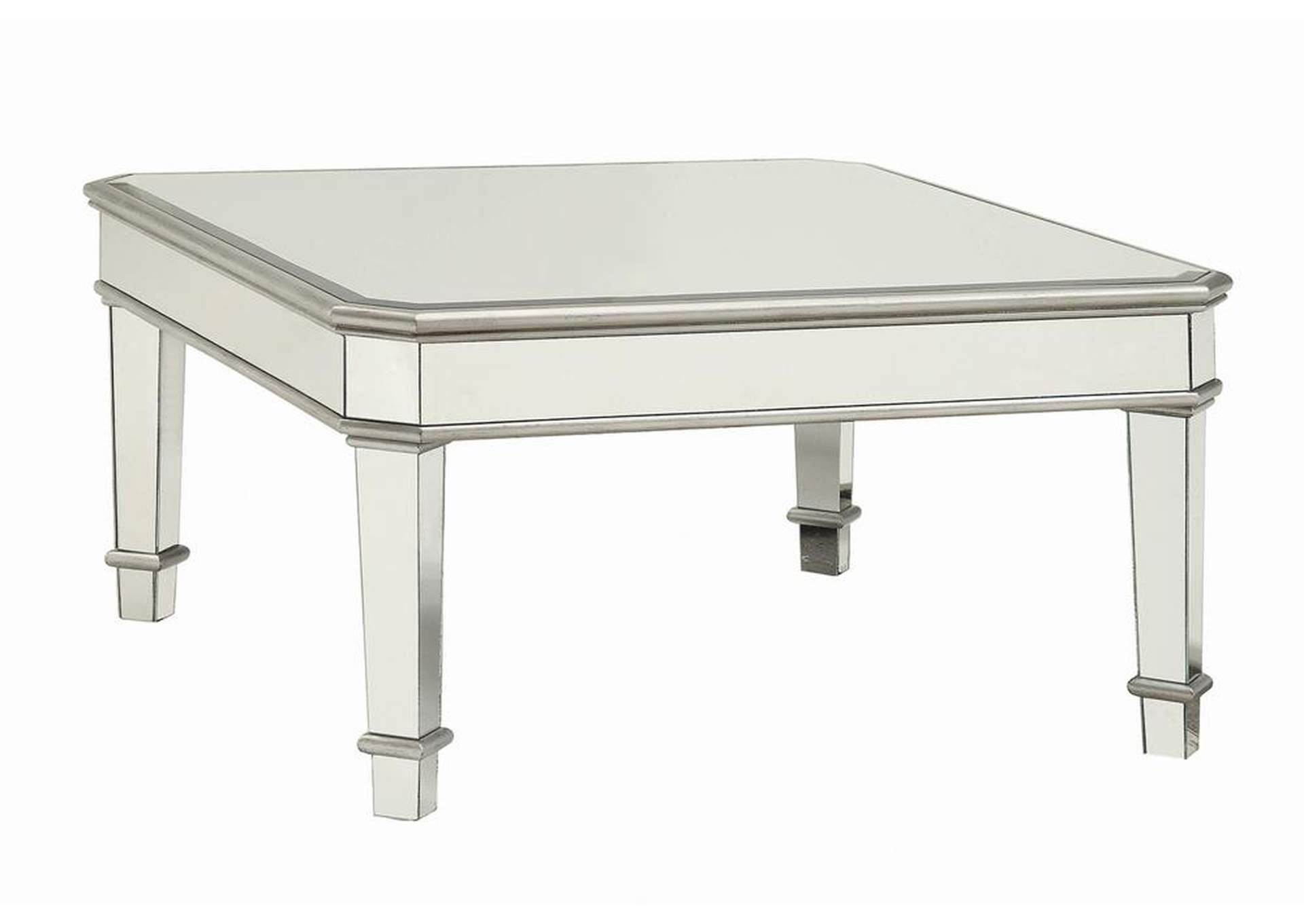 Silver Transitional Silver Coffee Table,Coaster Furniture