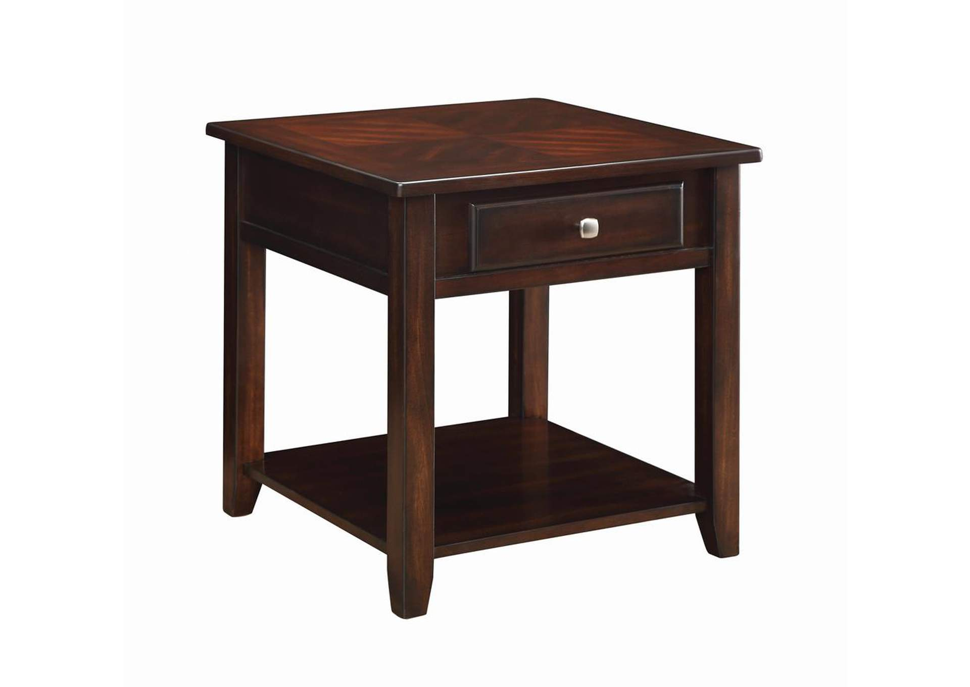 Walnut Transitional Walnut One-Drawer End Table,Coaster Furniture
