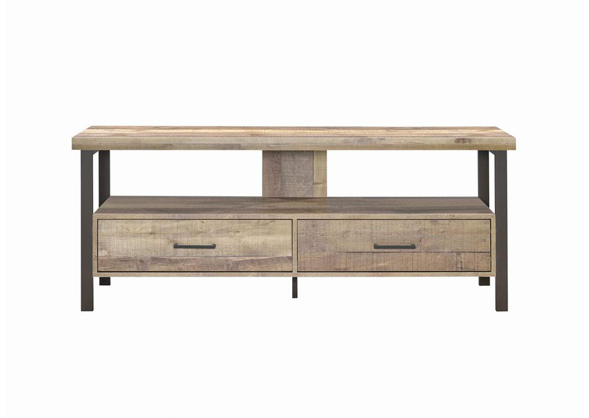 "Weathered Pine Rustic Weathered Pine 60"" TV Console,Coaster Furniture"
