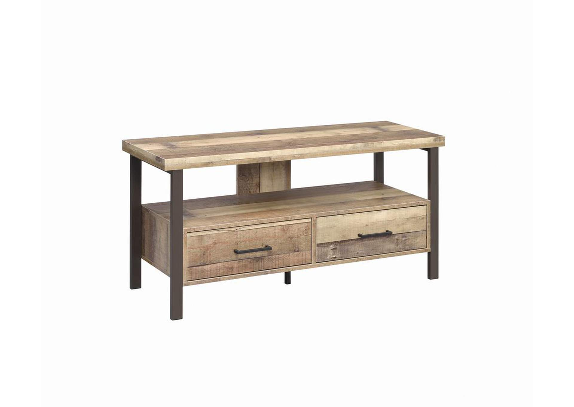 "Weathered Pine Rustic Weathered Pine 48"" TV Console,Coaster Furniture"