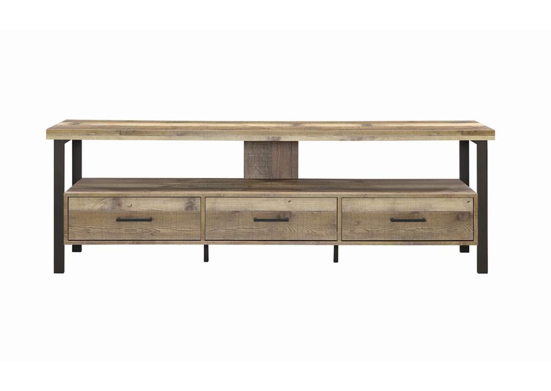 "Weathered Pine Rustic Weathered Pine 71"" TV Console,Coaster Furniture"