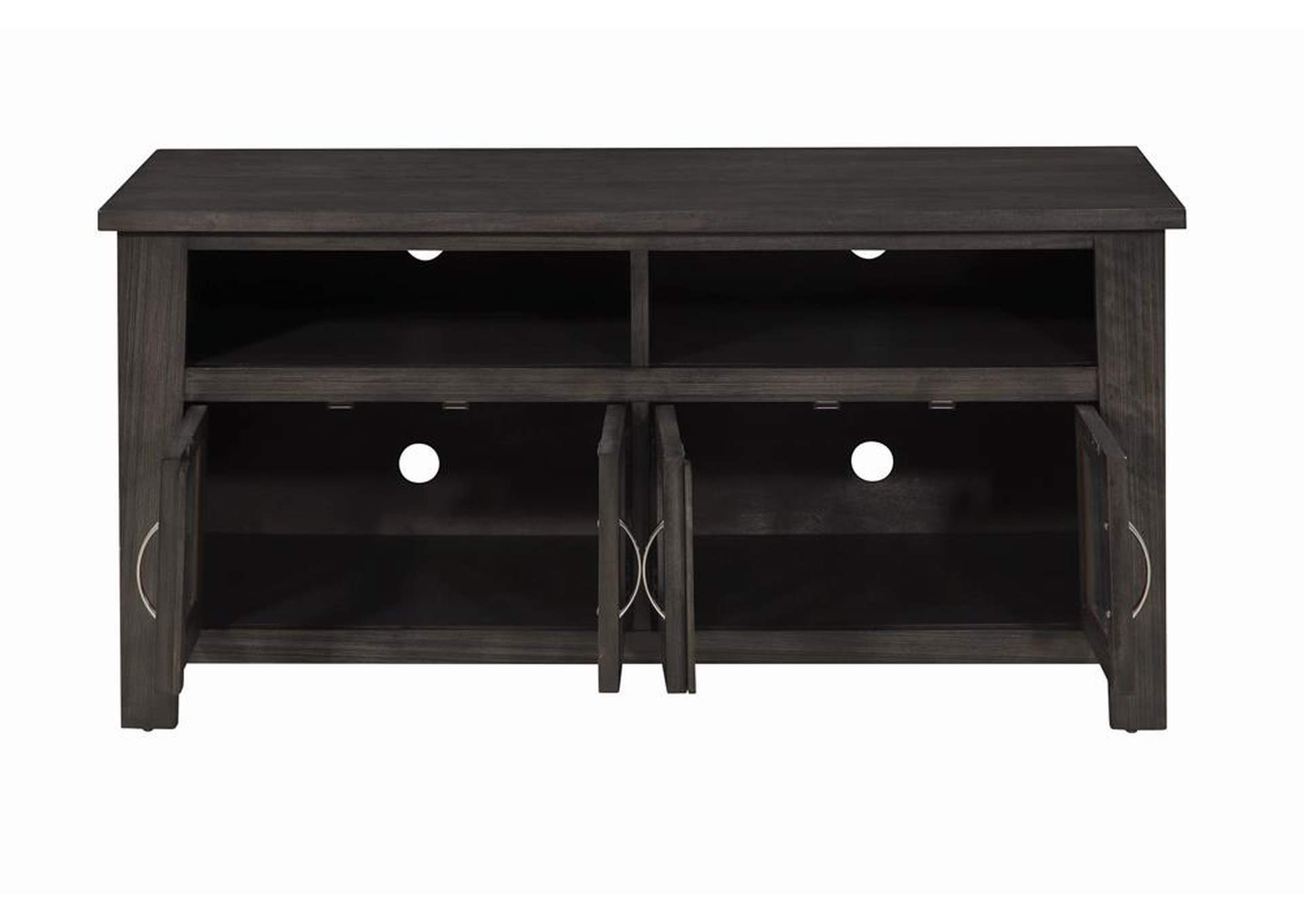 "Eerie Black Transitional Dark Grey 48"" TV Console,Coaster Furniture"