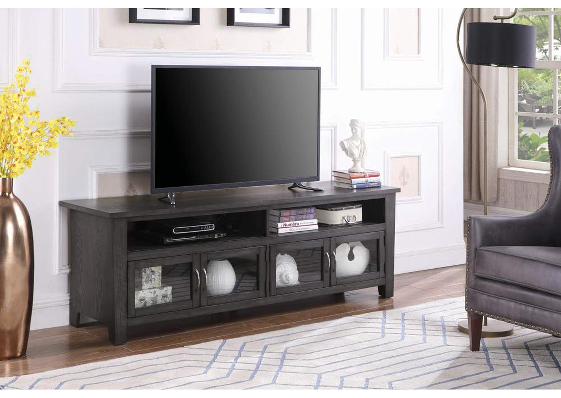"Tundora Transitional Dark Grey 72"" TV Console,Coaster Furniture"