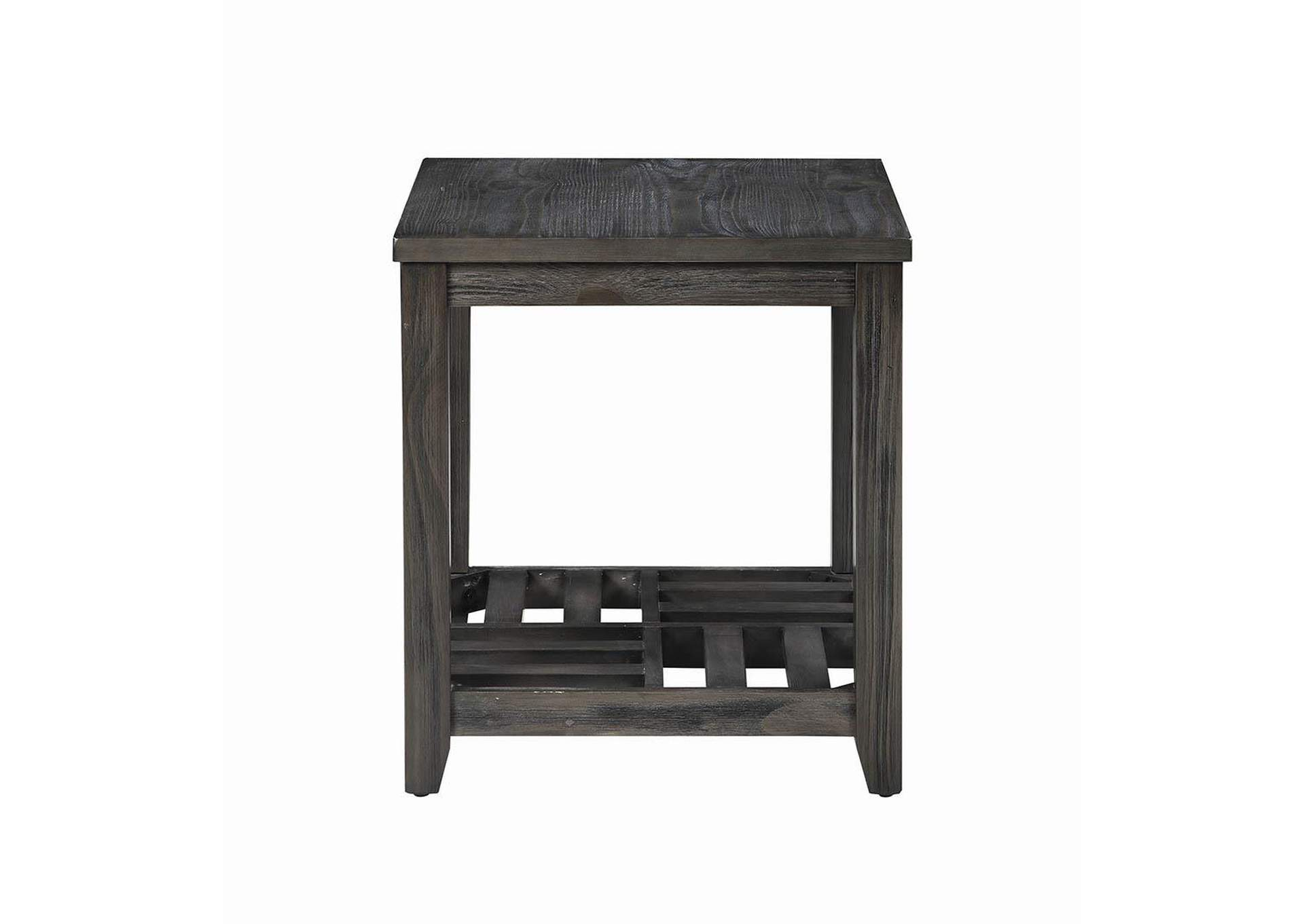 Emperor Rustic Grey Side Table,Coaster Furniture