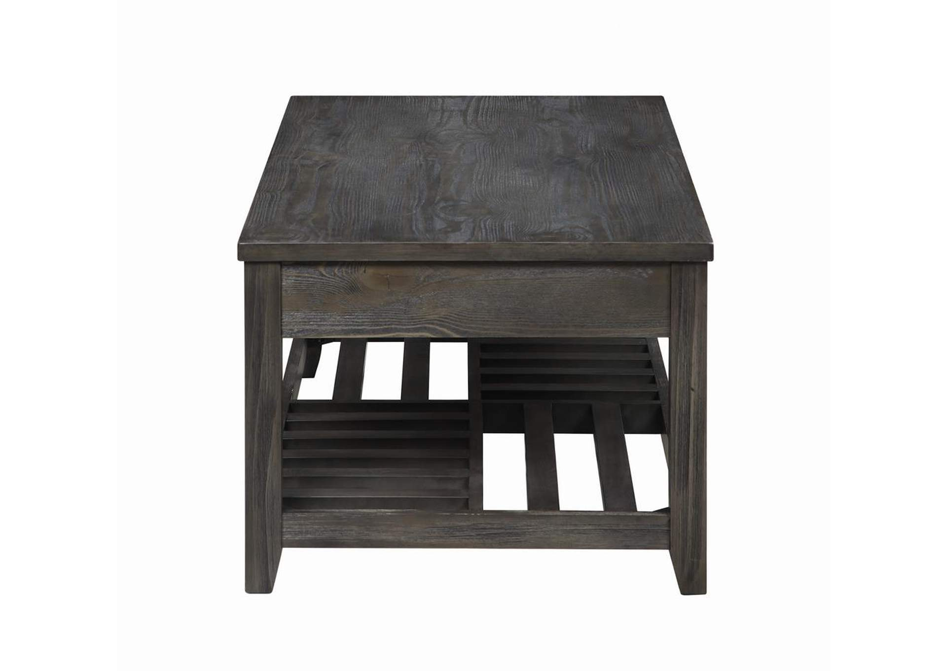 Fuscous Gray Rustic Grey Lift-Top Coffee Table,Coaster Furniture